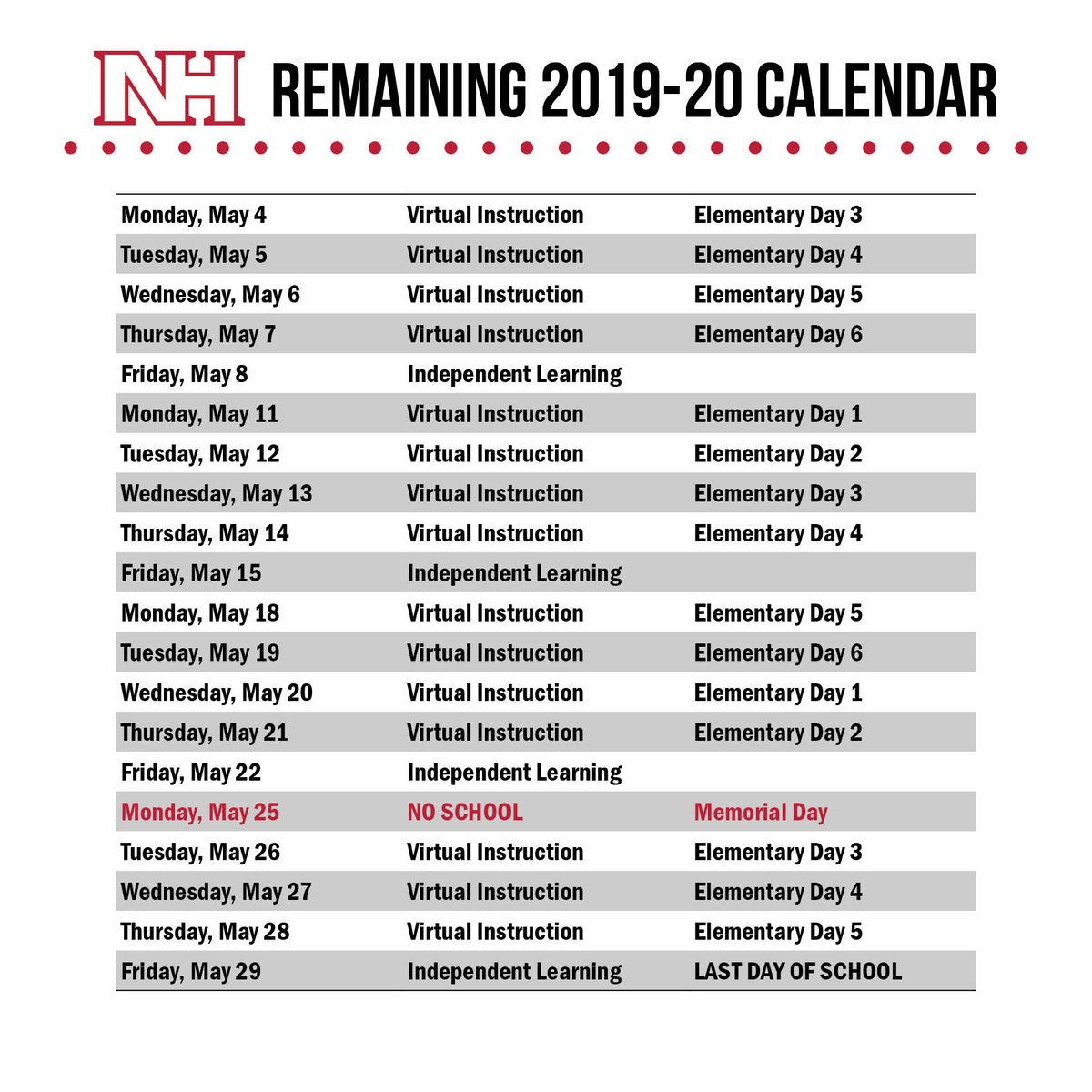 """North Hills Sd On Twitter: """"four More Weeks! 🌞 #nhproud… """" Within North Hills School Calendar"""