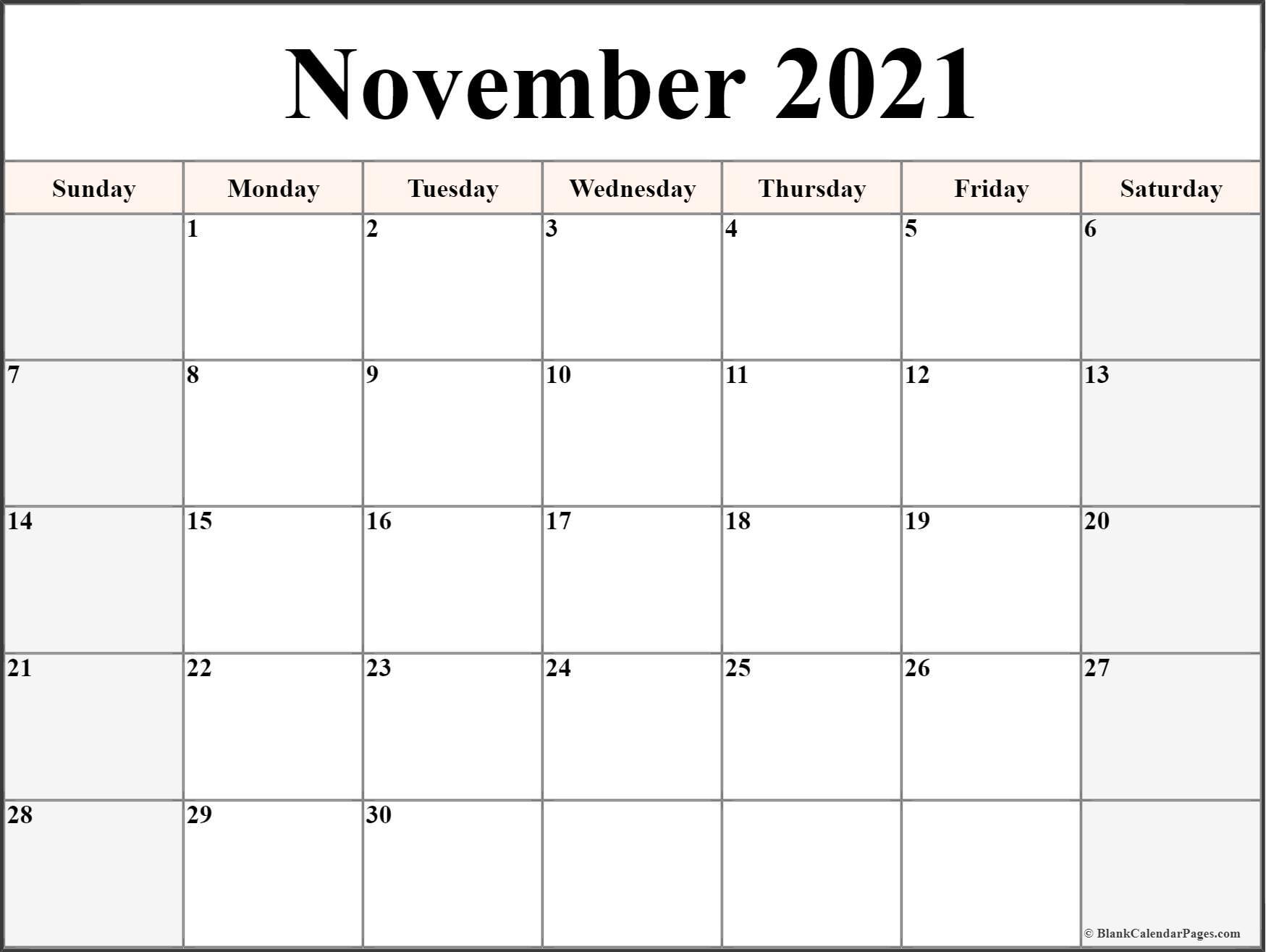 November 2021 Calendar   Free Printable Monthly Calendars Inside Calendar With November 2021 Mexican Names