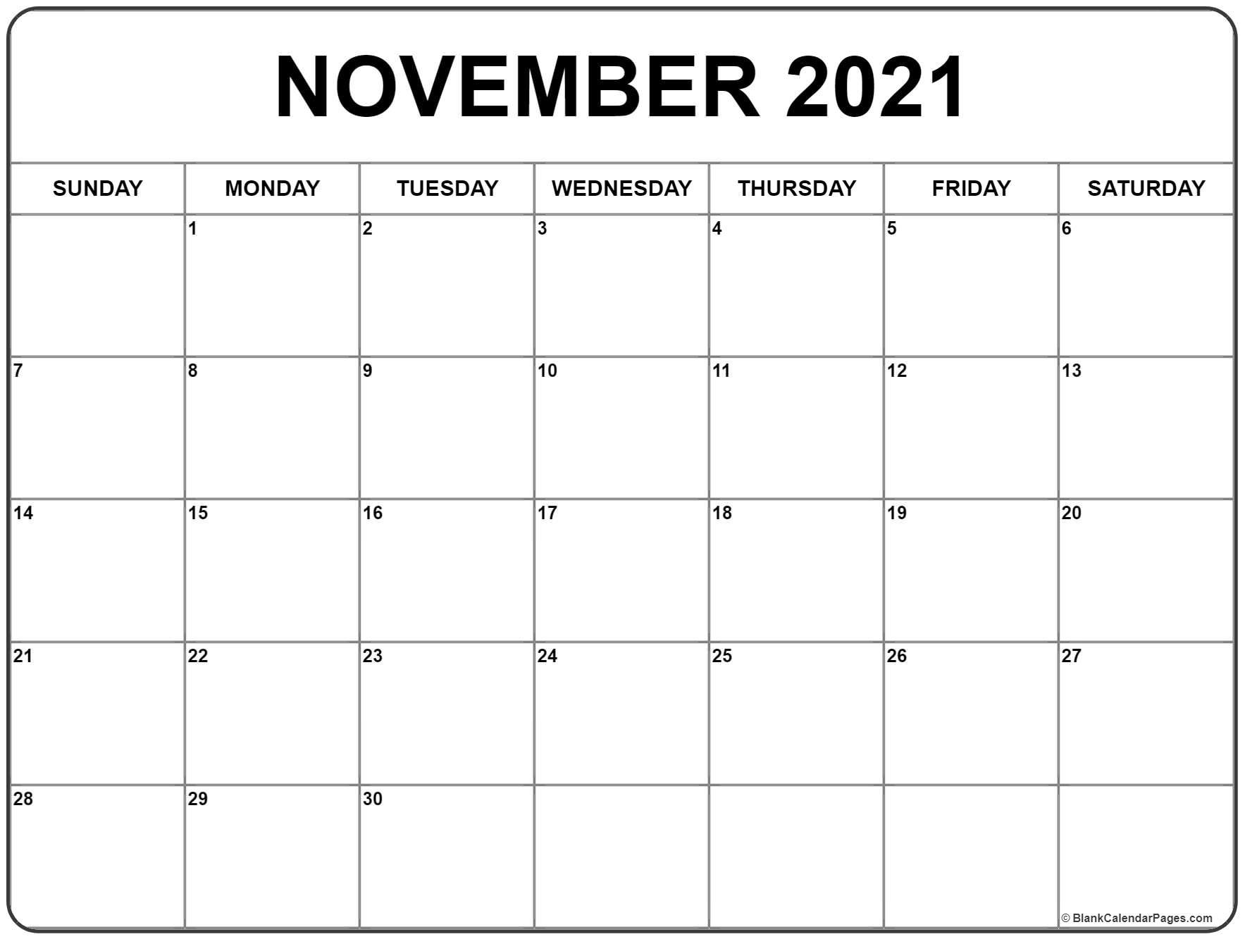 November 2021 Calendar   Free Printable Monthly Calendars With Regard To Calendar With November 2021 Mexican Names