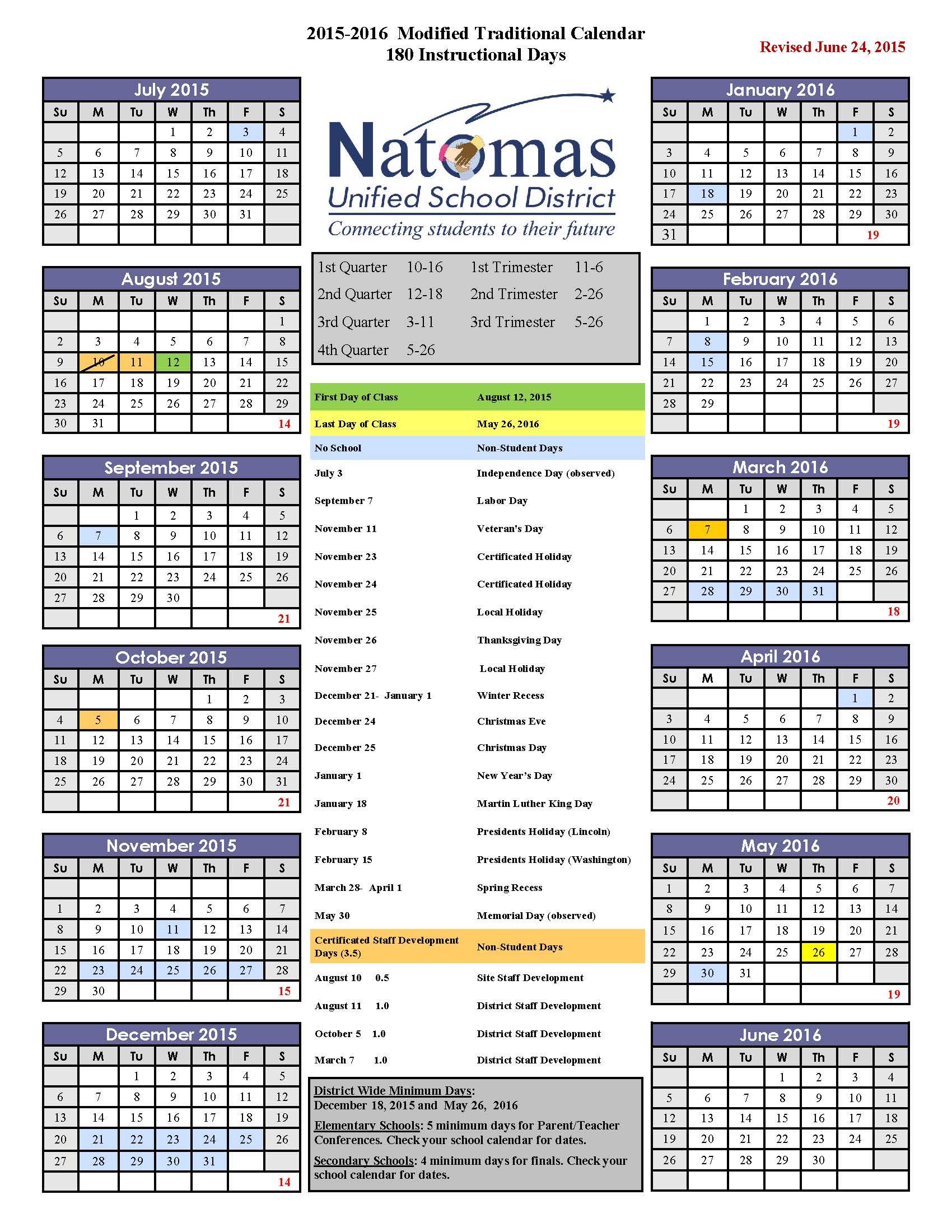 Nusd Calendar – Inderkum High School Regarding Lodi Unified School District Calendar