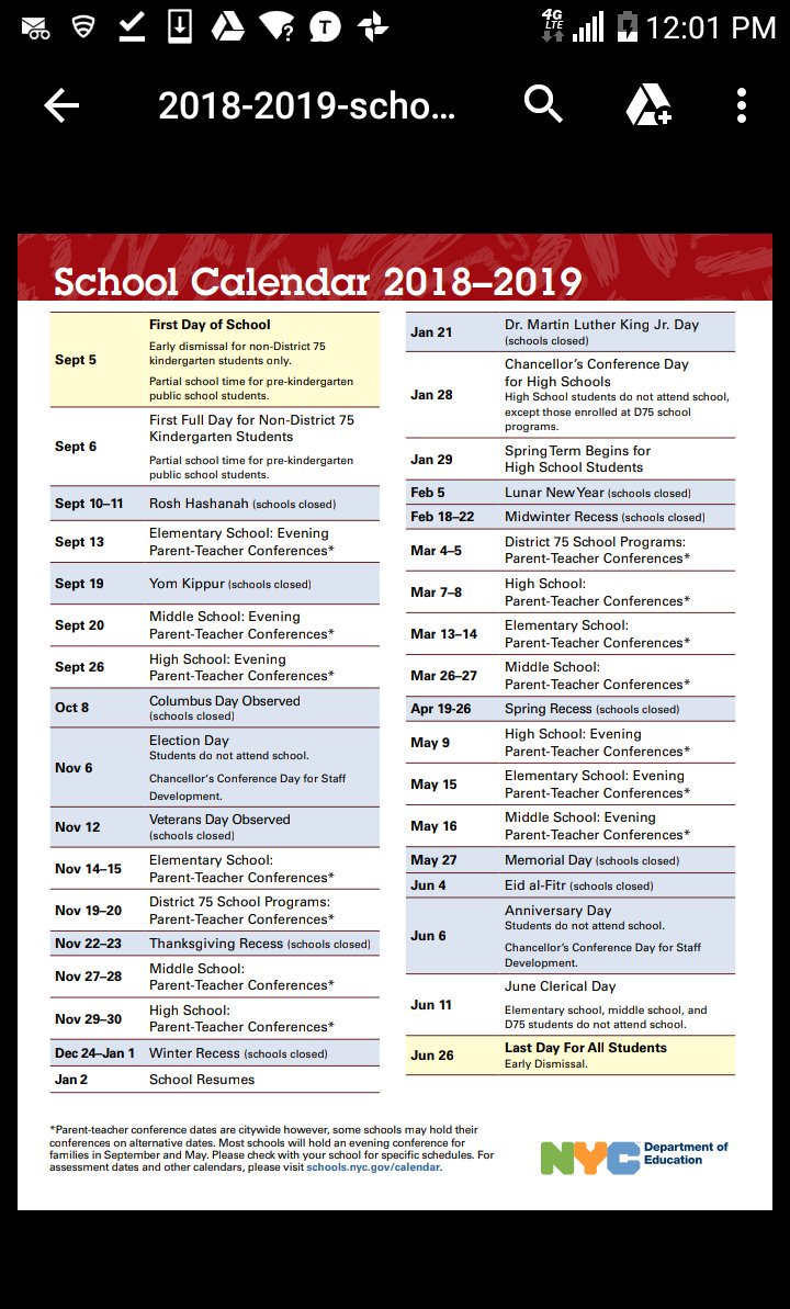 """Nyc Public Schools On Twitter: """"planning Ahead? Check Out Intended For Board Of Education Calendar Nyc"""