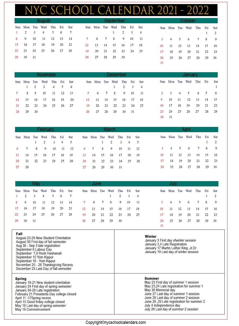 Nyc School Calendar 2021 ✅❤️ Regarding Bedford Central School Calendar