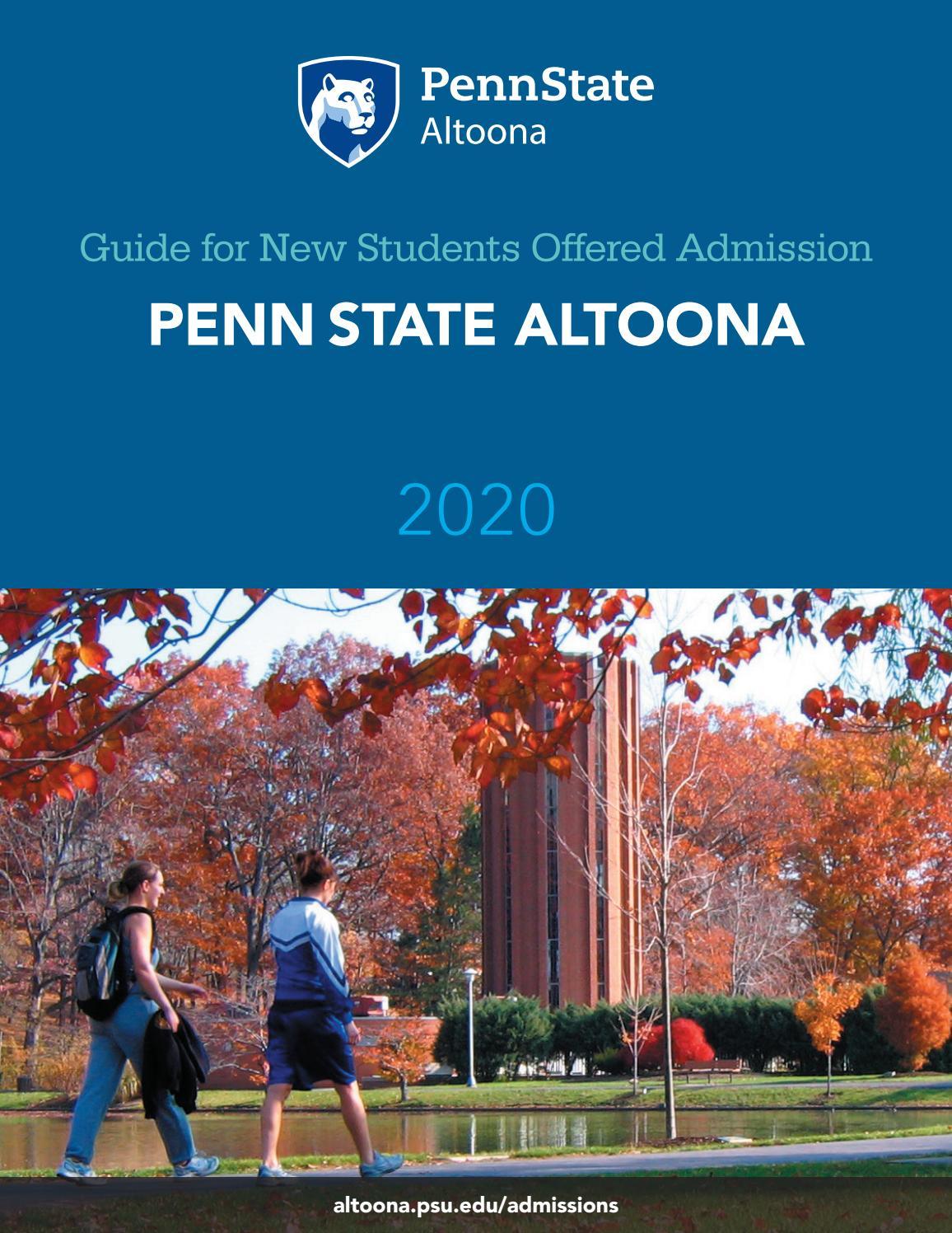 Offer Guide: Penn State Altoonapenn State Undergraduate Intended For Penn State Altoona School Calendar