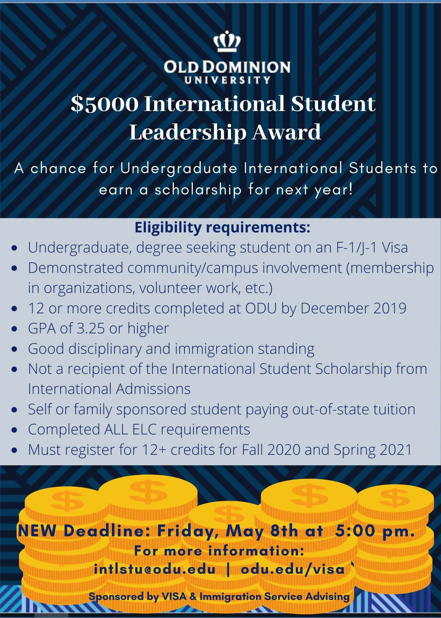 Office Of Visa & Immigration Service Advising Scholarships Within Spring 2021 Academic Calander For Old Dominion University