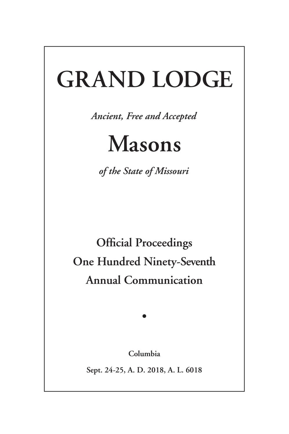 Official Proceedings - Grand Lodge Mo Annual Communication Throughout Chula Vista High School District Calendar 2021 20