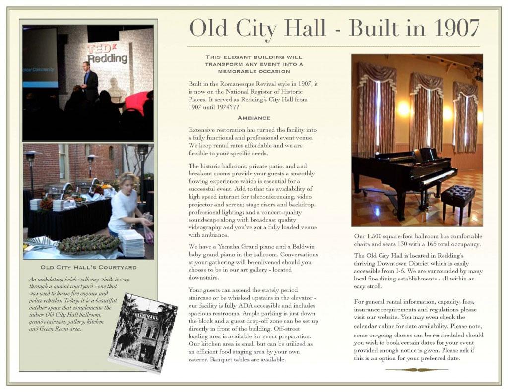 Old City Hall   Facility Rental   Shasta County Arts Council Inside Shasta County Superior Court Calander