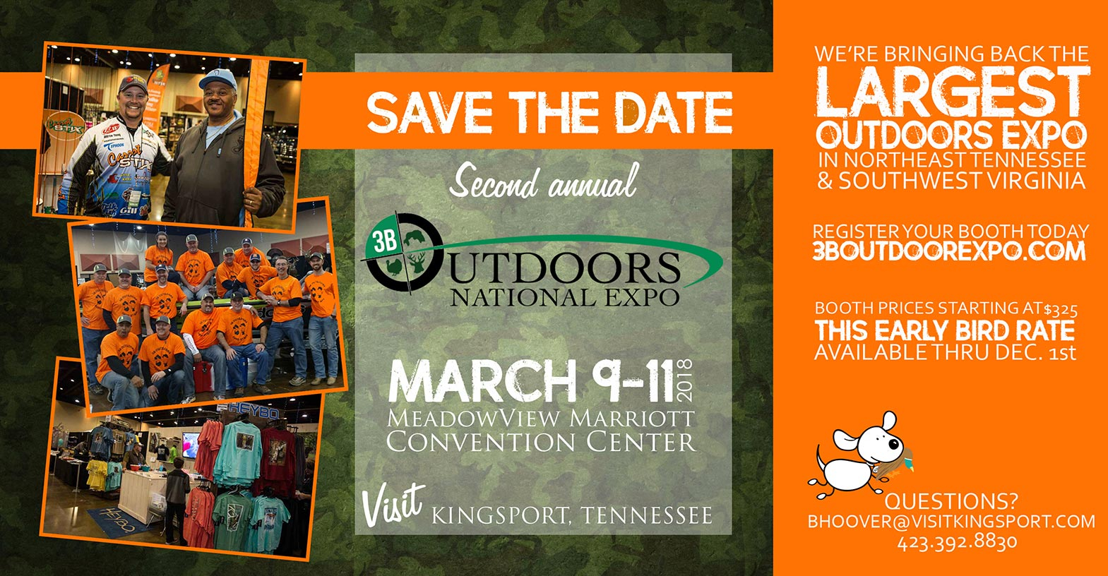 Outdoor Expo Presentedvisit Kingsport • 3B Outdoors With Regard To Meadowview Convention Center Events Calendar