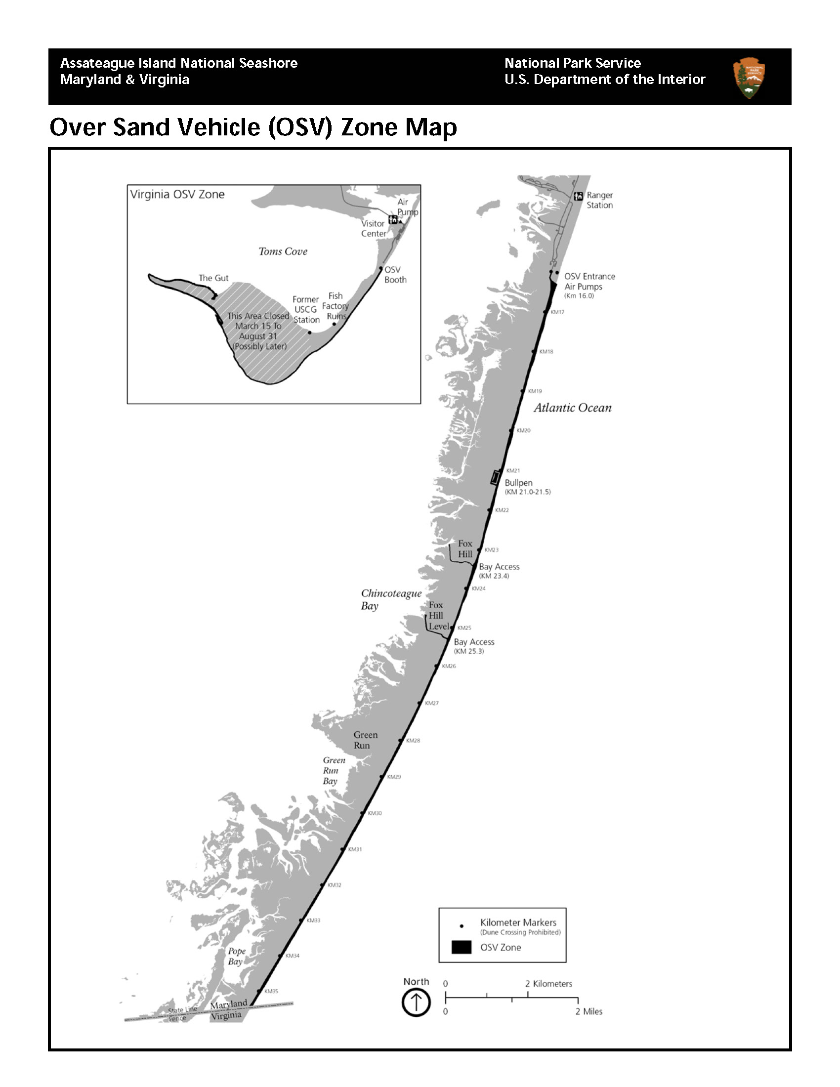 Over Sand Vehicle (Osv) Use – Assateague Island National Inside Maryland Hunting Calendar 2021