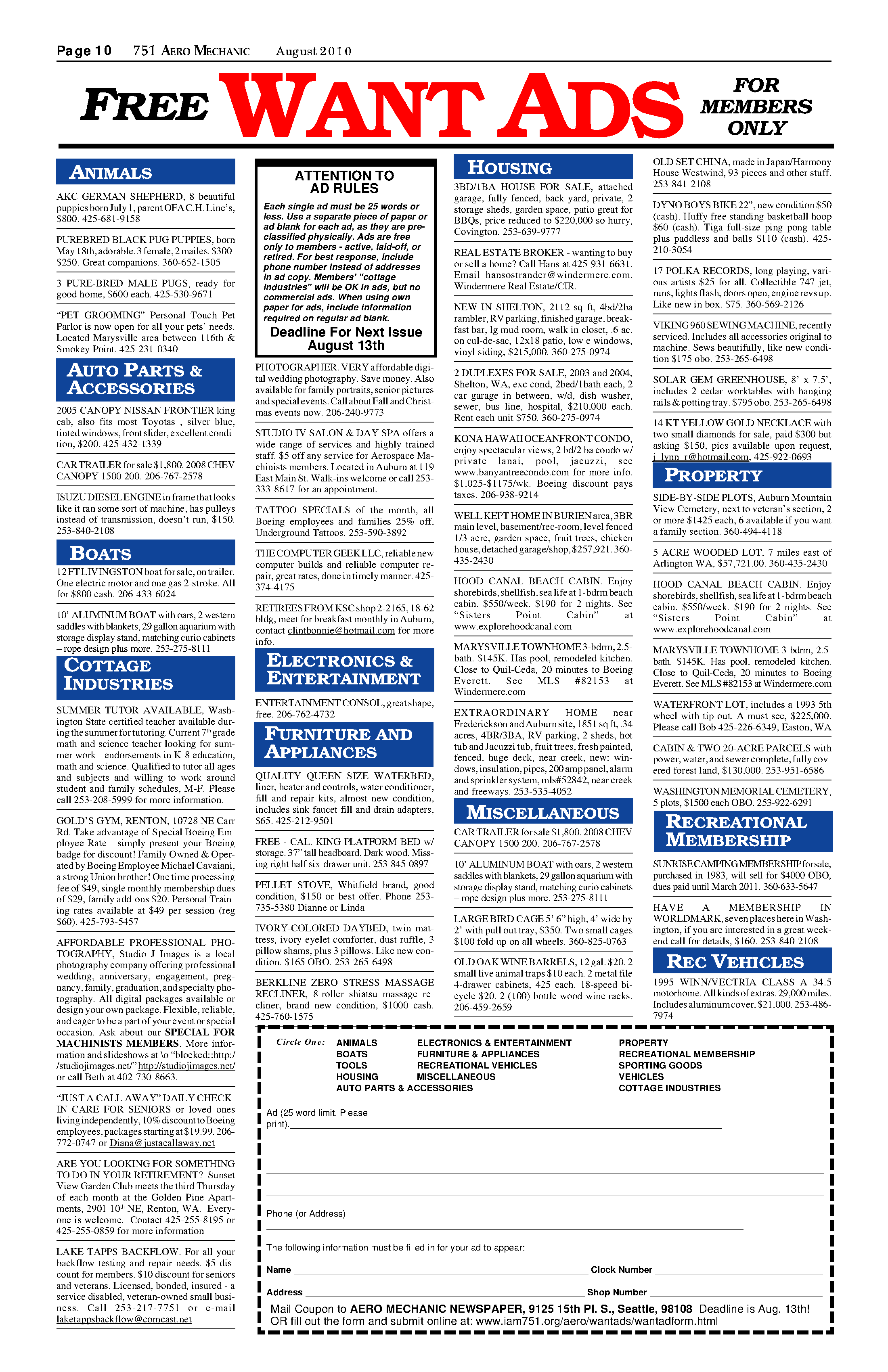 Page 10 - Iam Publications, District And Local Lodges Regarding Georgia State University Semester Start Date 2004 - 2005