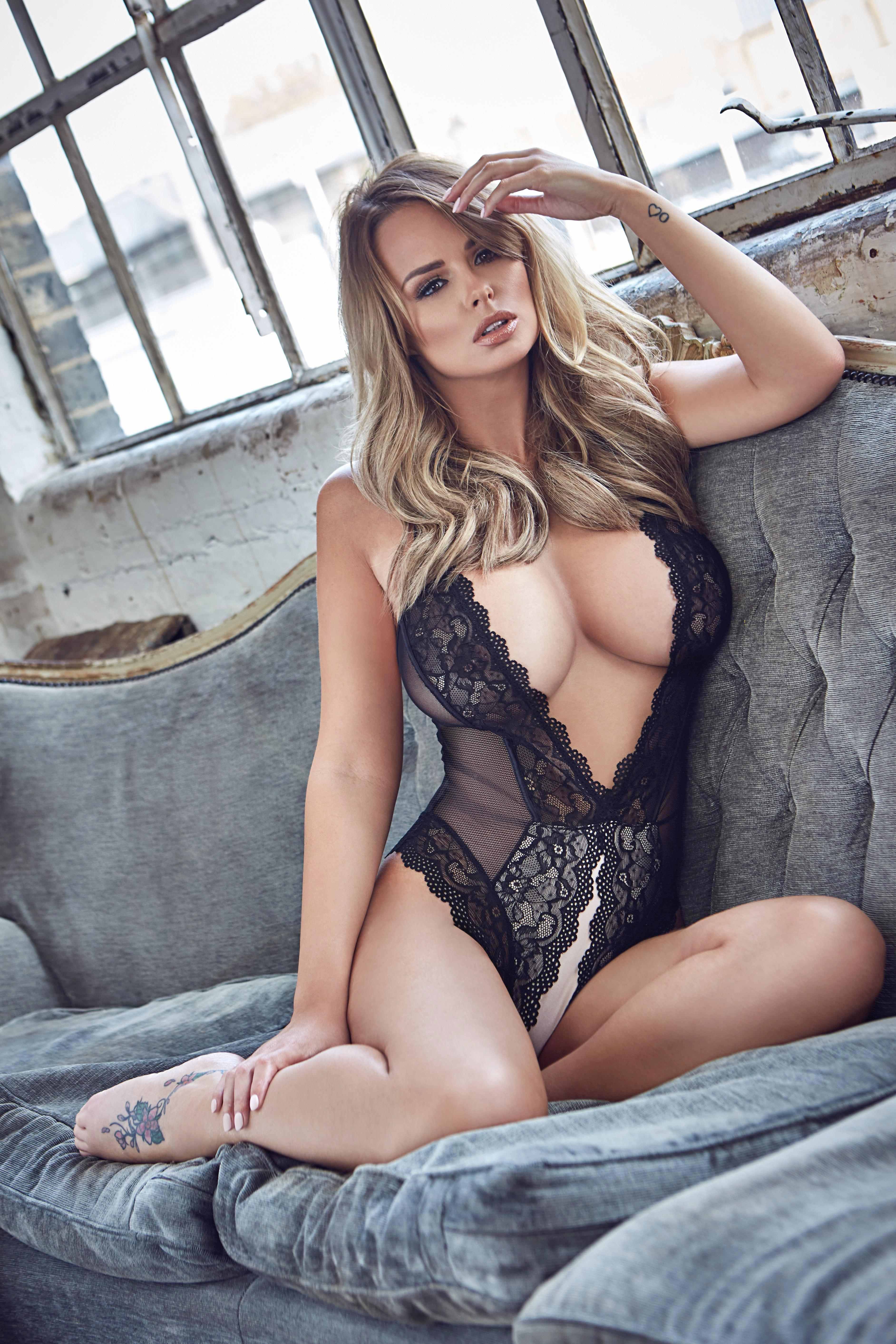 Page 3 Star Rhian Sugden Shows Off Her Lace Body Suit In Her With Regard To Sun Page 3 Calenders