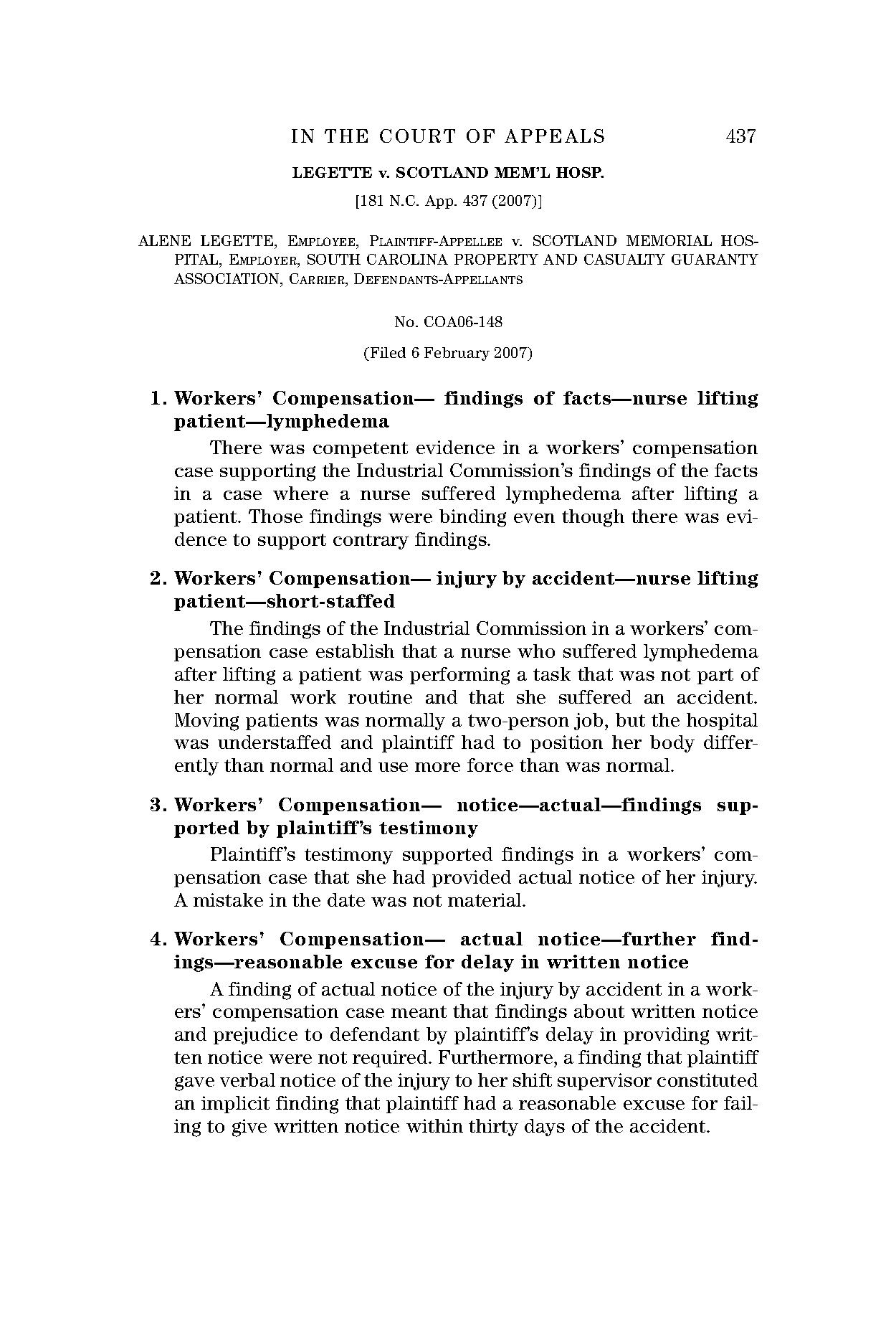 Page 469 – North Carolina Court Reports – North Carolina Inside North Carolina Court Date By Name
