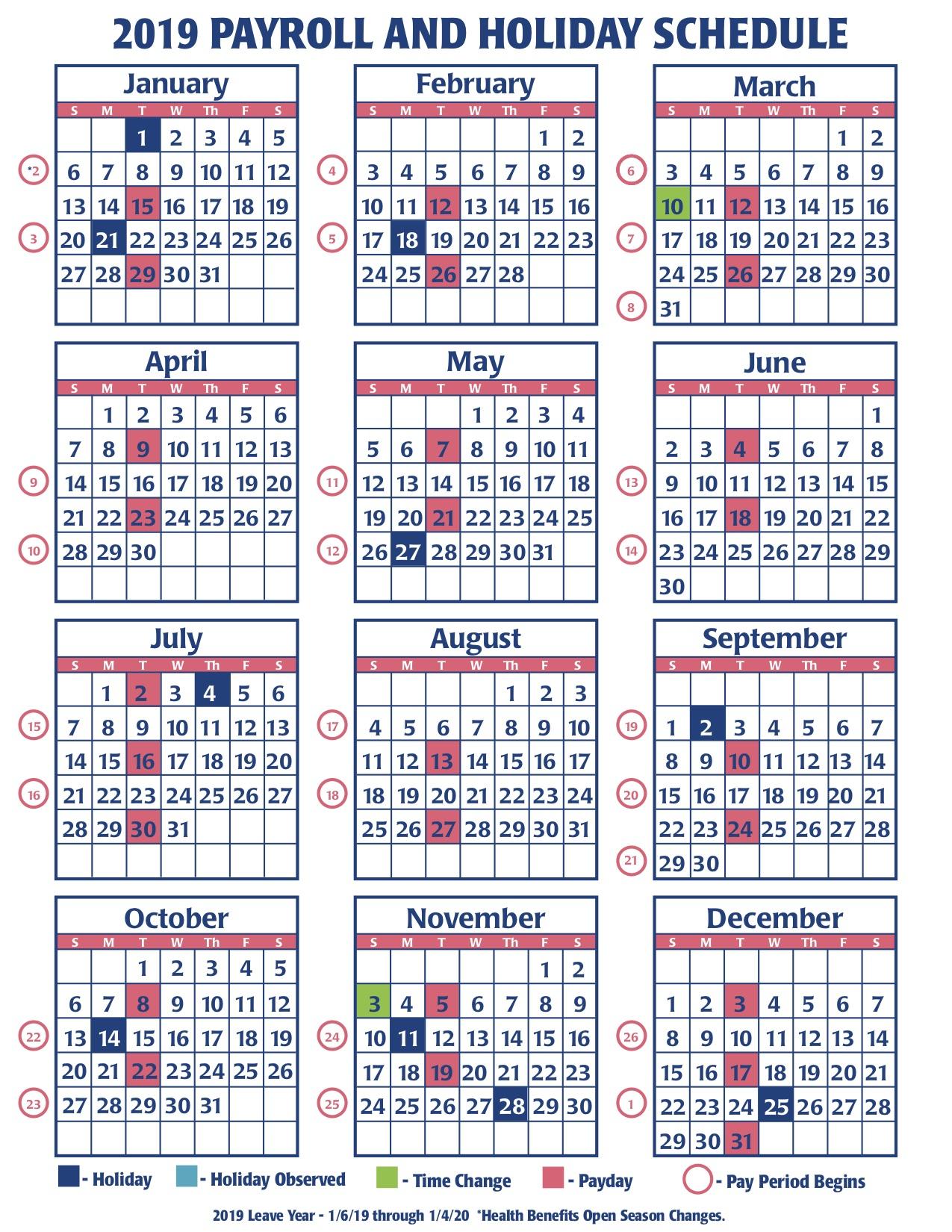 Payroll Calendar Federal Government | Payroll Calendar 2020 Regarding Federal Payroll Calendar 2020