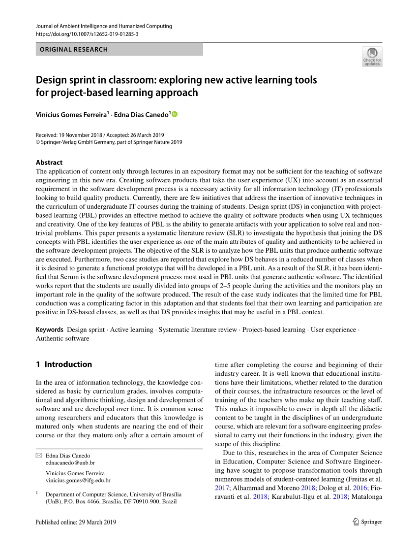 Pdf) Design Sprint In Classroom: Exploring New Active Intended For 2020 Modified Traditional Instructional Calendar 2020 Lodi Unified School District
