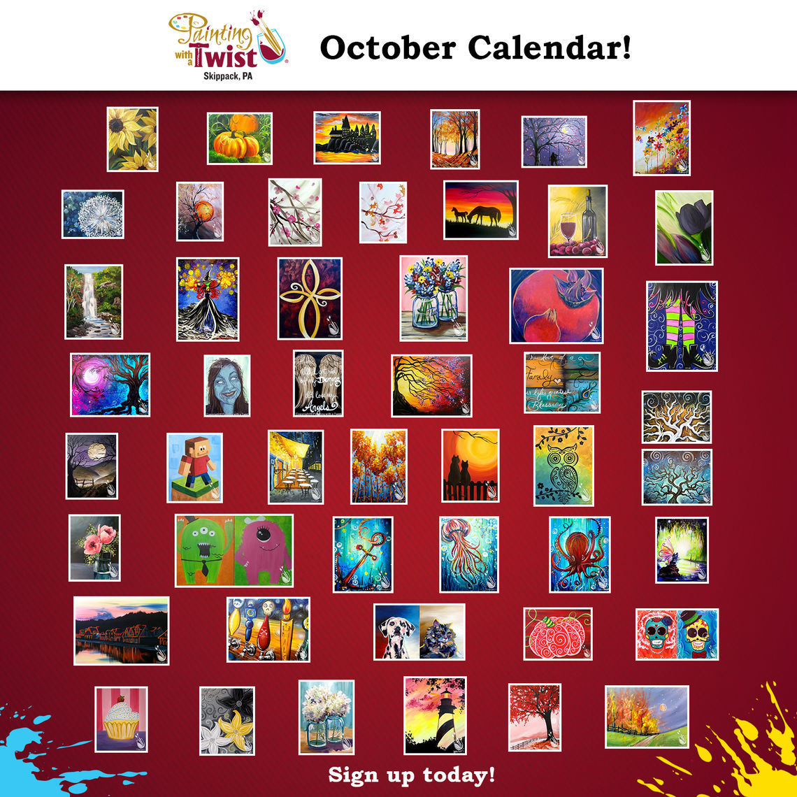 Phillyfunguide – Painting With A Twist Skippack, Pa within Painting With A Twist Calendar