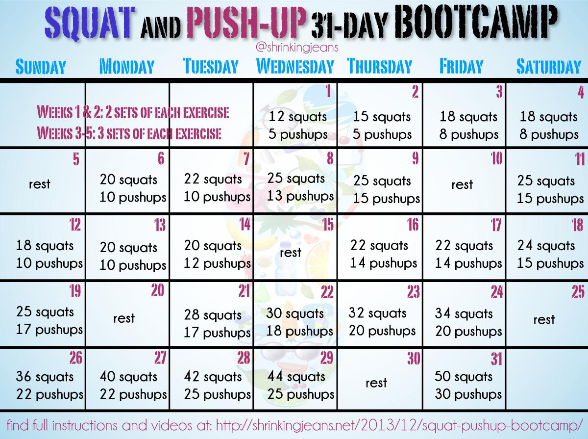 Pin On Fitness Regarding January Fitness Printable Challenge