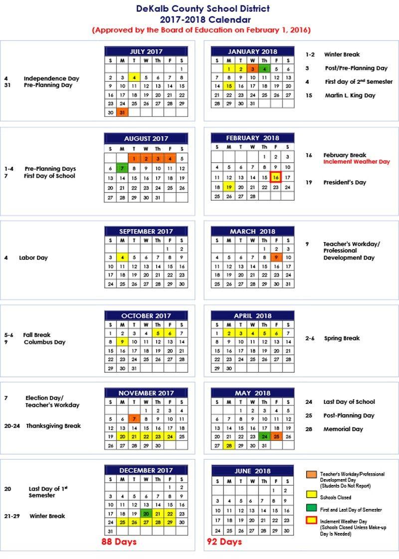 Pin On Places: Atlanta Throughout Martin County School District Calendar