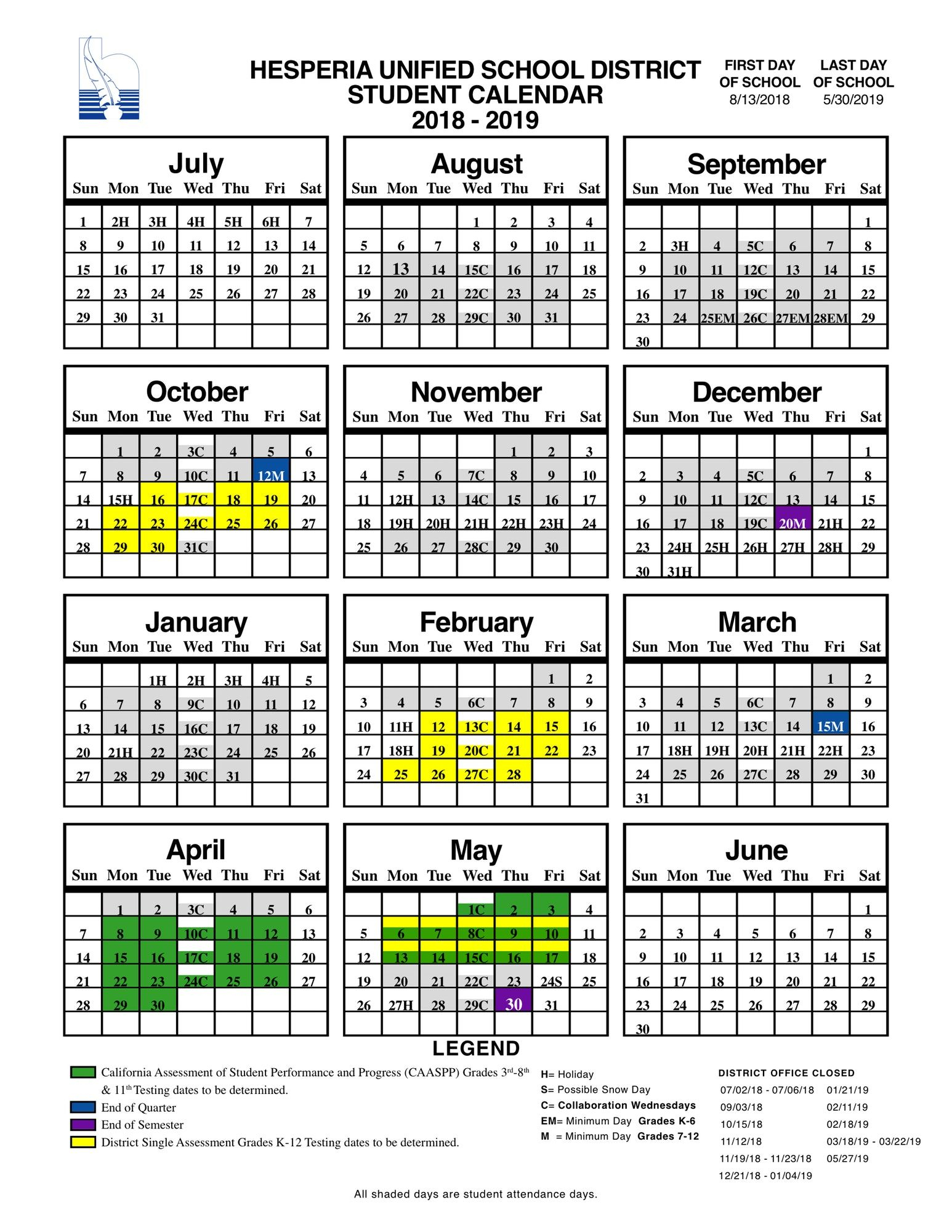 Pin On Special Calendars Throughout Victorville School District Calendar
