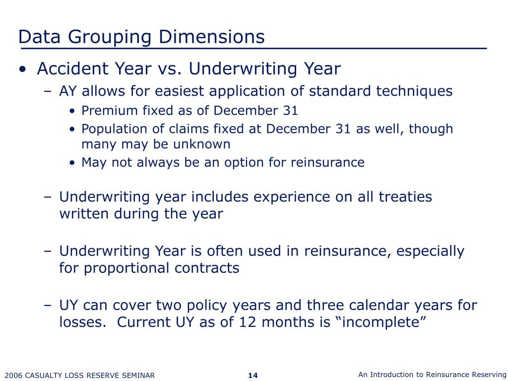 Ppt – Introduction To Reinsurance Reserving Powerpoint Intended For Clendar Year Verse Accident Year