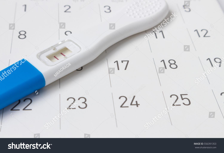 Pregnancy Test On Calendar Background Health : Стоковая Within When To Take Pregnancy Test Calendar