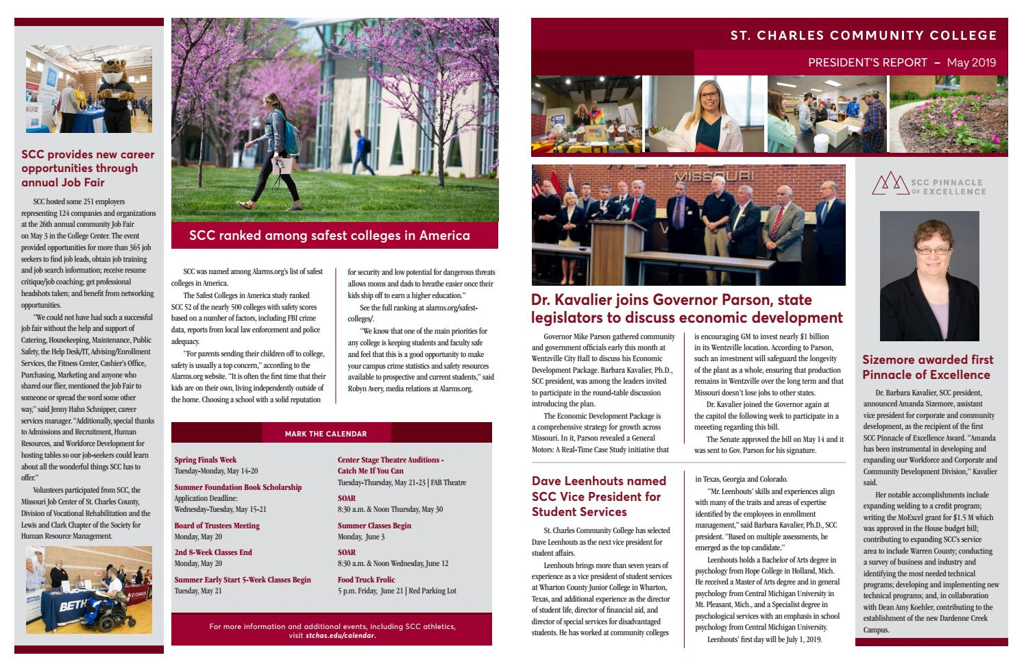 President's Report To The Board – May 2019St. Charles Throughout St Charles Community College Calendar