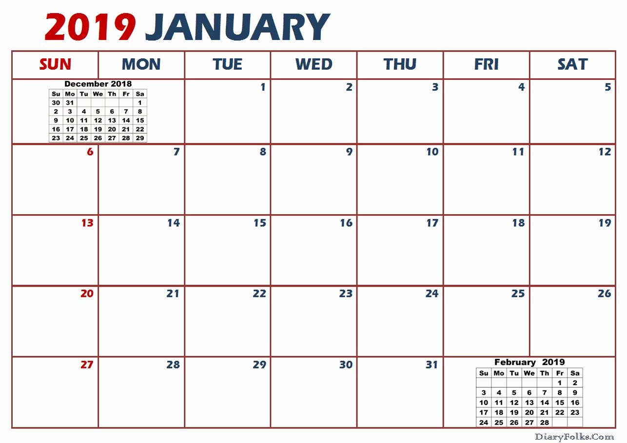 Print January 2019 Calendar Pdf Word Excel Portrait And Throughout Uri Academic Calendar Holiday