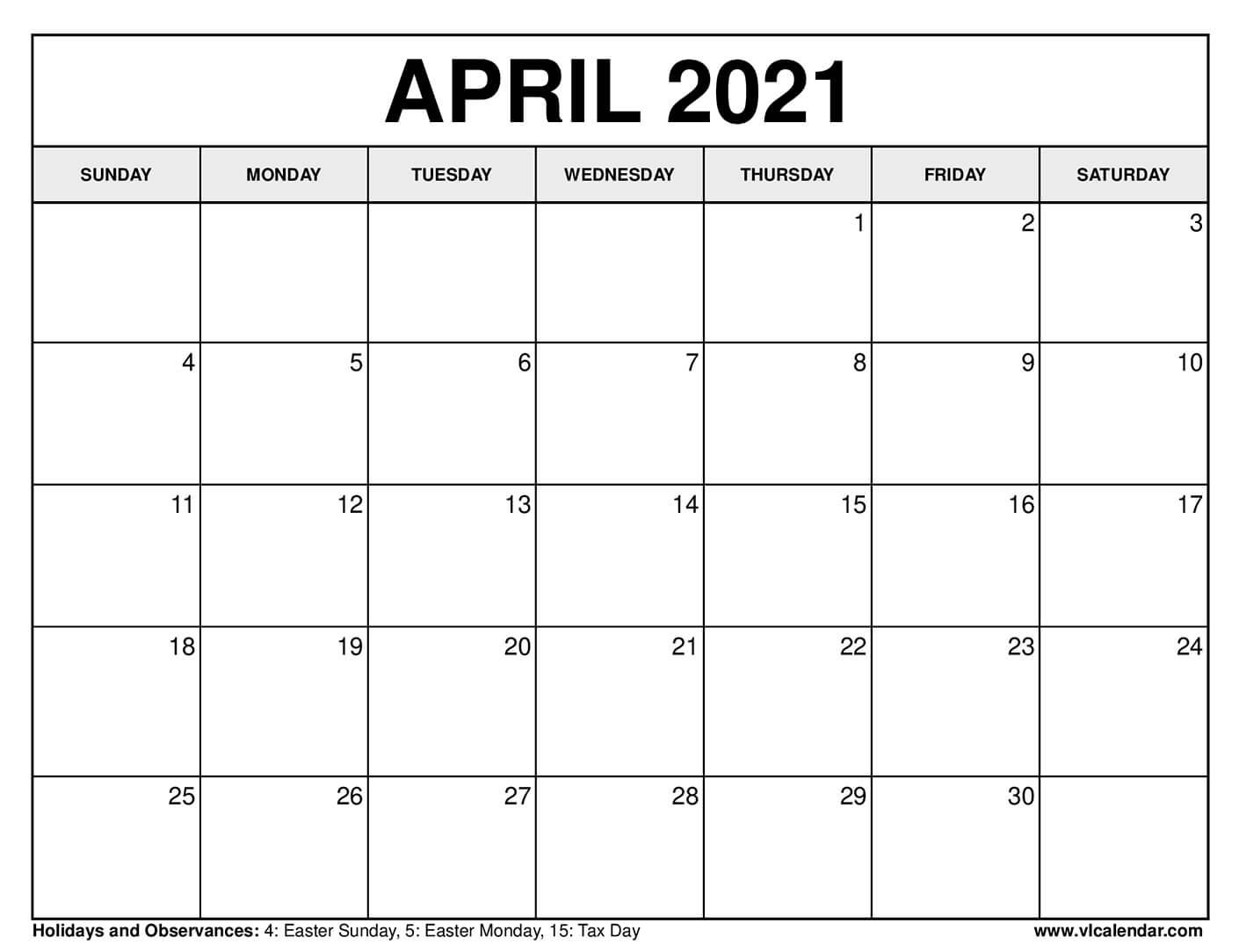 Printable April 2020 Calendars Inside Moon Calendar 2021 Name And Date For Kids