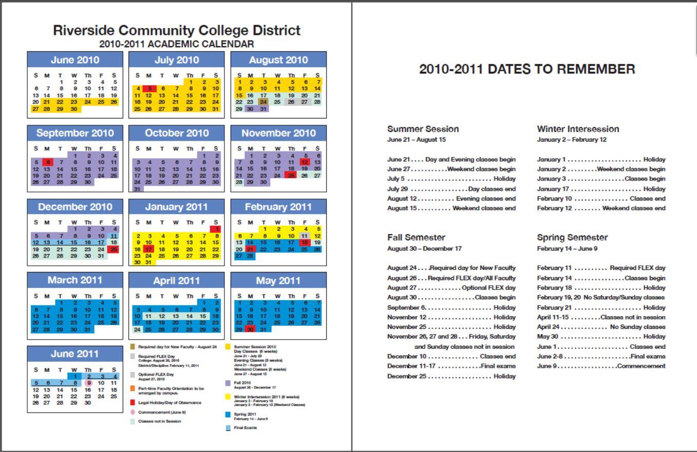 Rccd Academic Calendar   Class Schedules Fall 2006 – Fall Pertaining To Norco School District Calendar