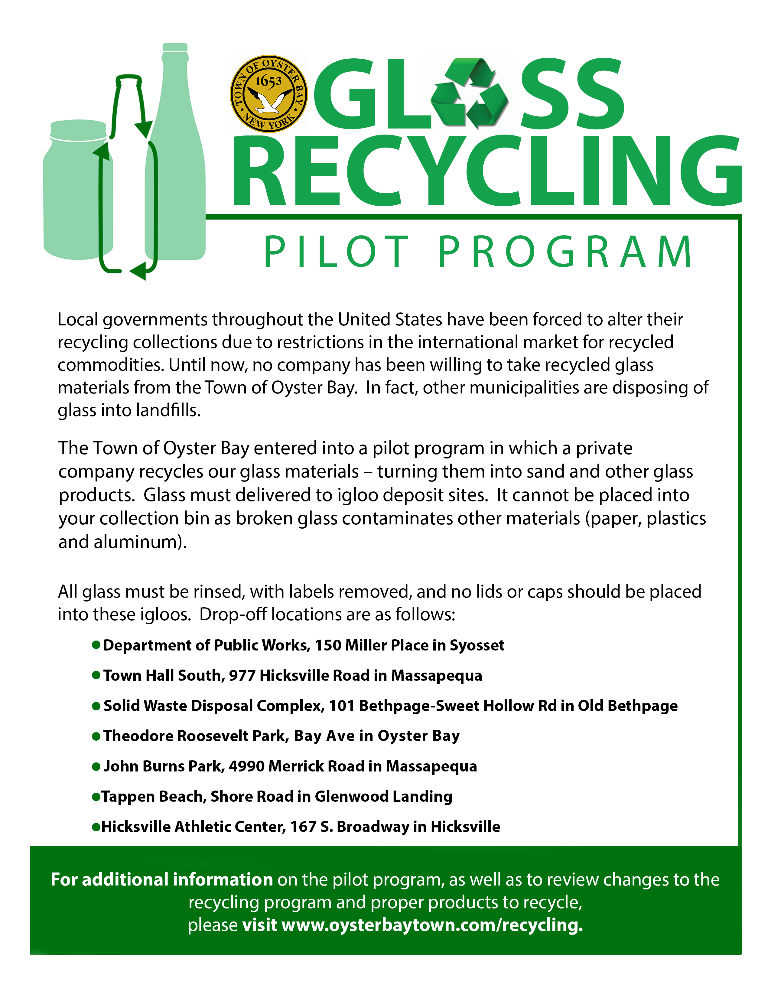 Recycling Information (S.o.r.t.) – Town Of Oyster Bay For Town Oyster Bay Sanitation Calendar