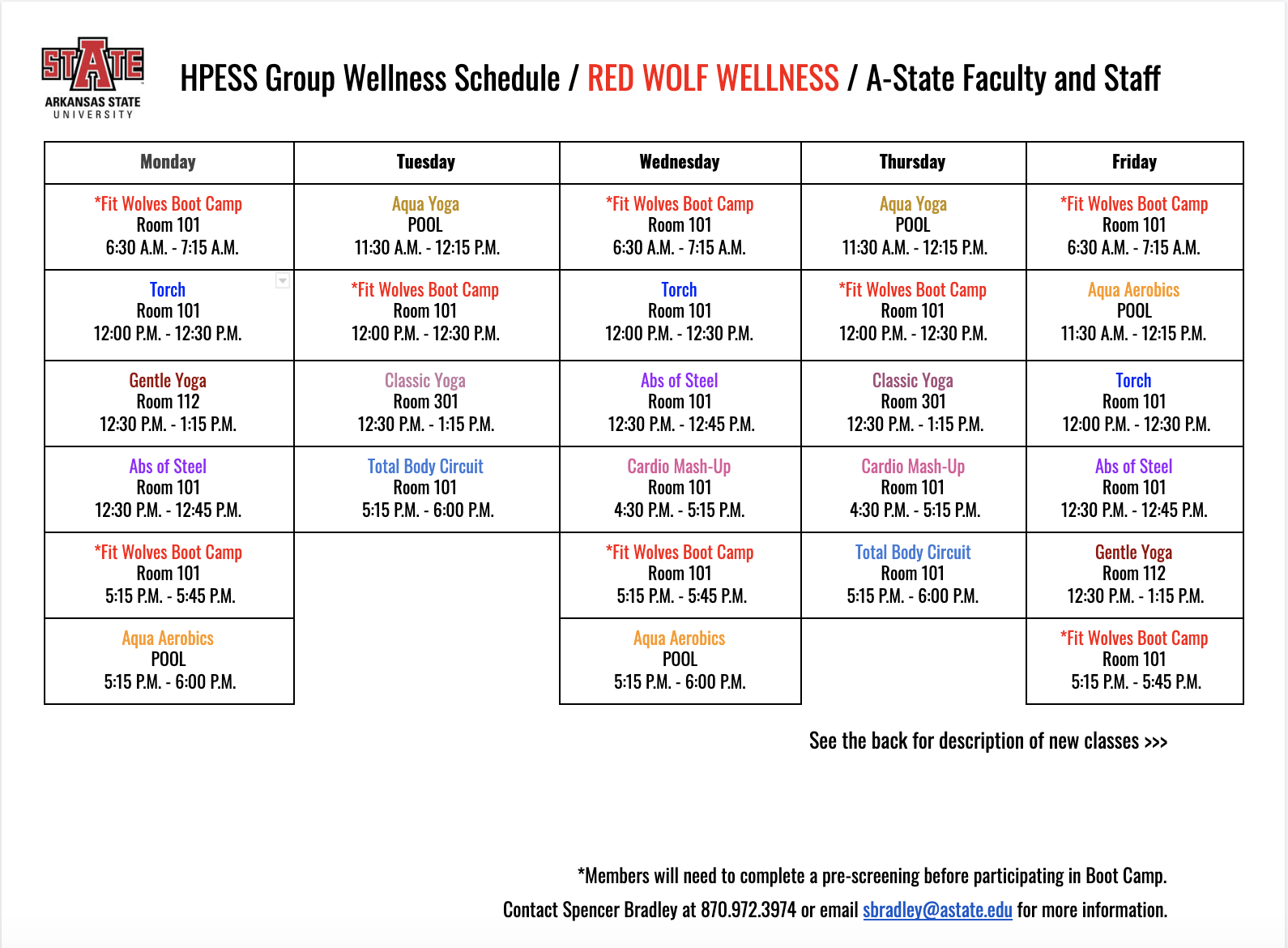 Red Wolf Wellness   A State Faculty & Staff Intended For Arkansas State University Holiday Schedule