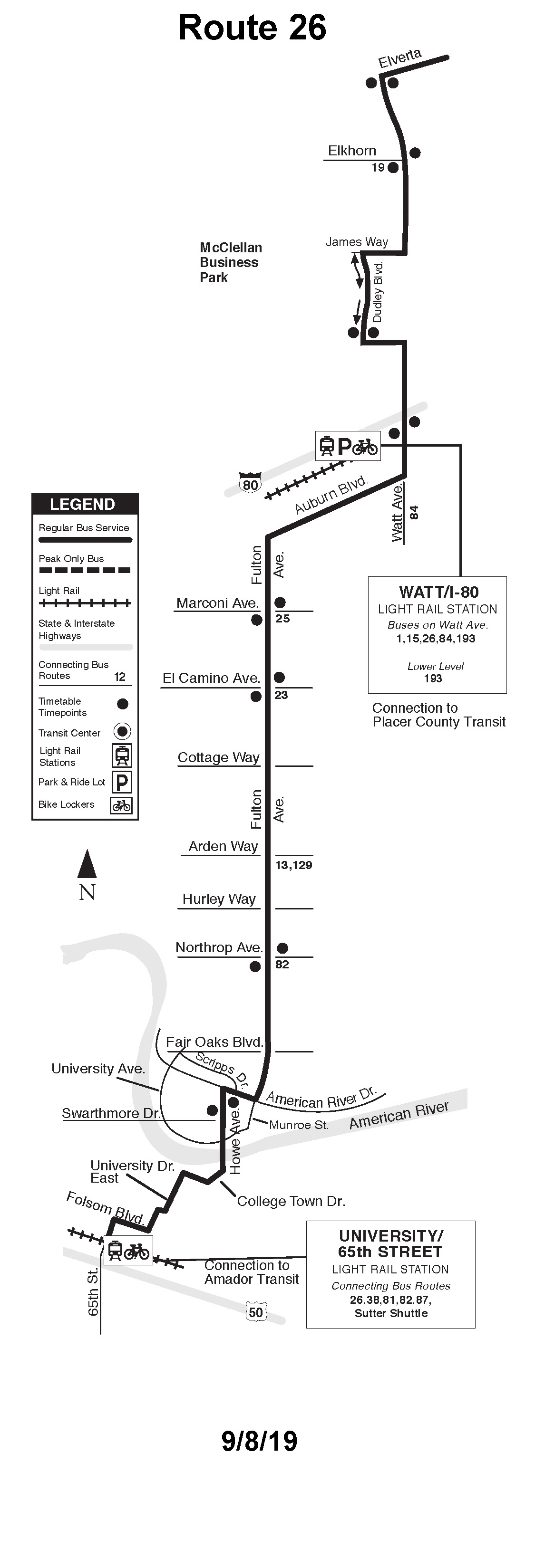 Sacrt Routes And Schedules For Calendar Of American River College 2020