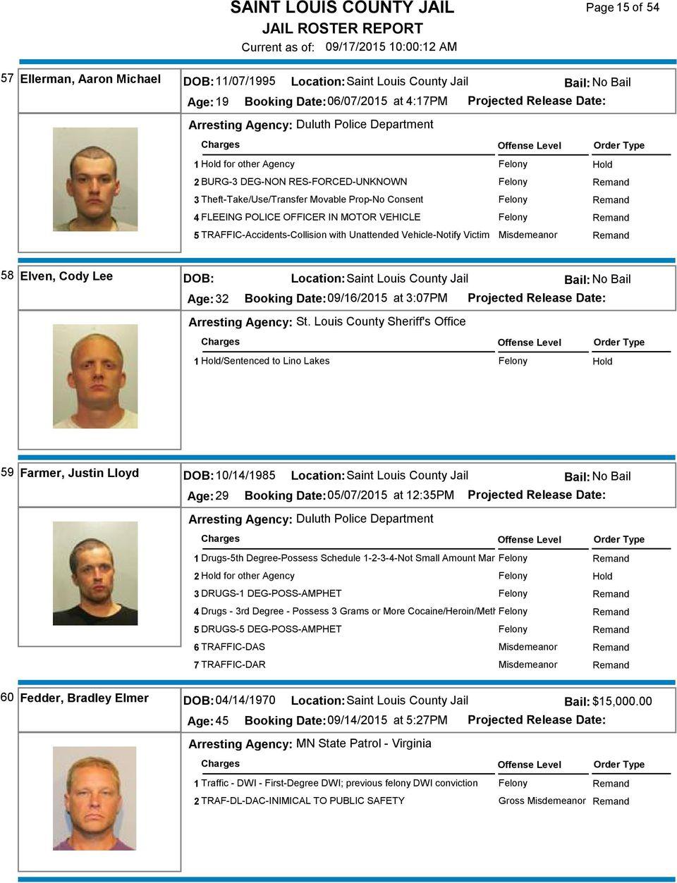 Saint Louis County Jail – Pdf Free Download For Sixth Judicial Circuit Calander St.louis County Hibbingmn