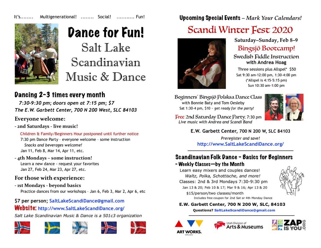 Salt Lake Scandinavian Dance Calendar - Salt Lake Scandi Dance within Slc Calencar Of Events