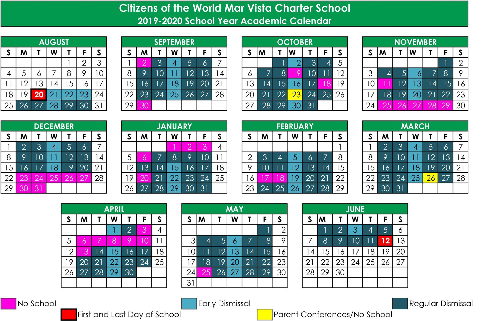 School Calendar | Cwc Mar Vista For Diamond Bar High School Calendar 2020