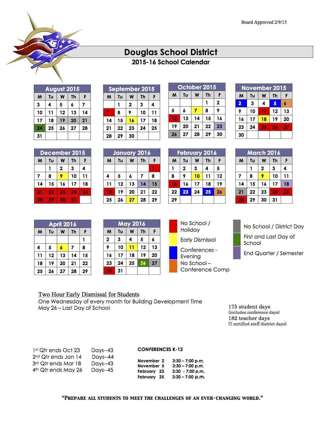 School Calendar For Douglas, Rapid City, Meade And New within Rapid City School District Schedule