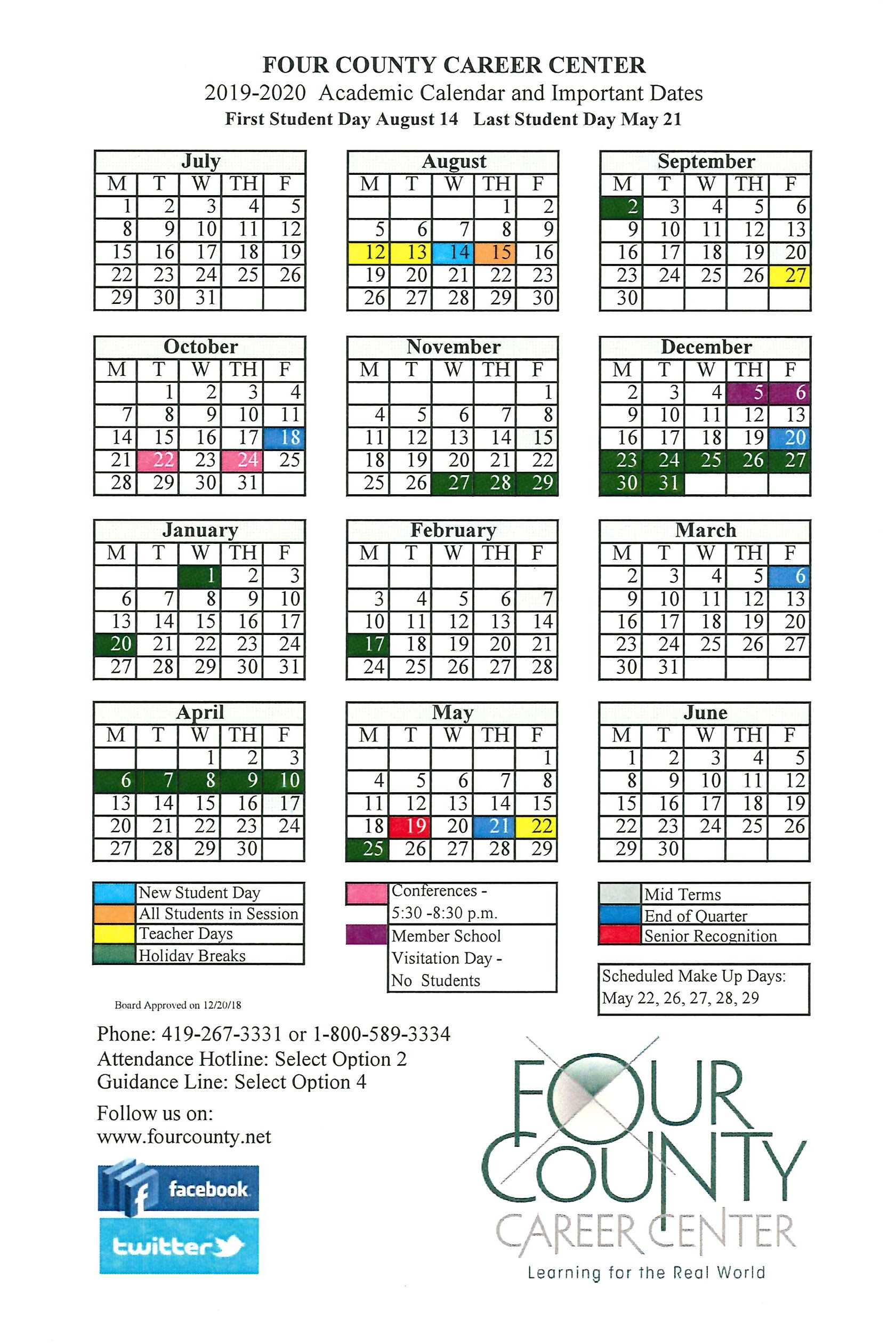 School Calendar For University Of Findlay Academic Calendar 2021