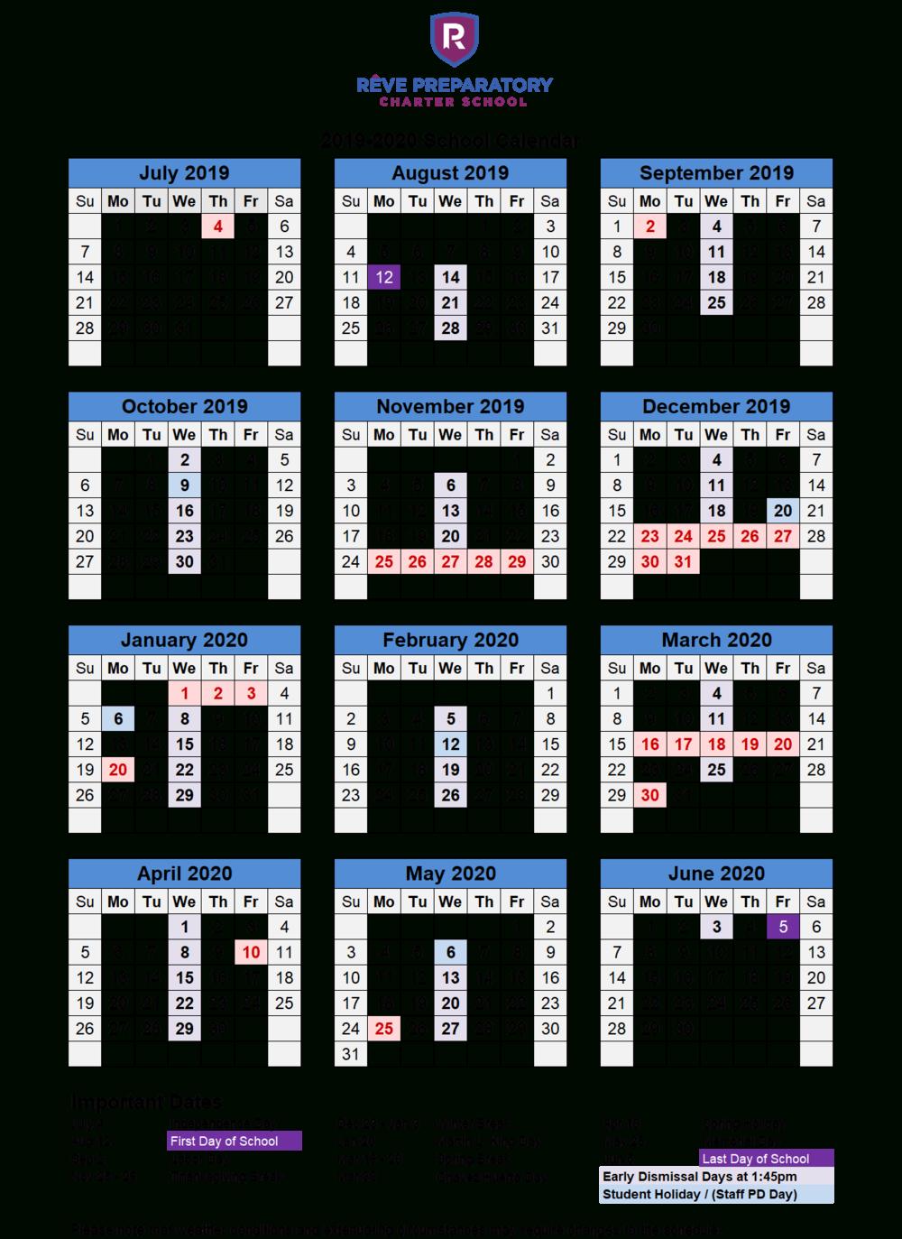 School Calendar — Rêve Preparatory Charter School Within New Caney School Calendar