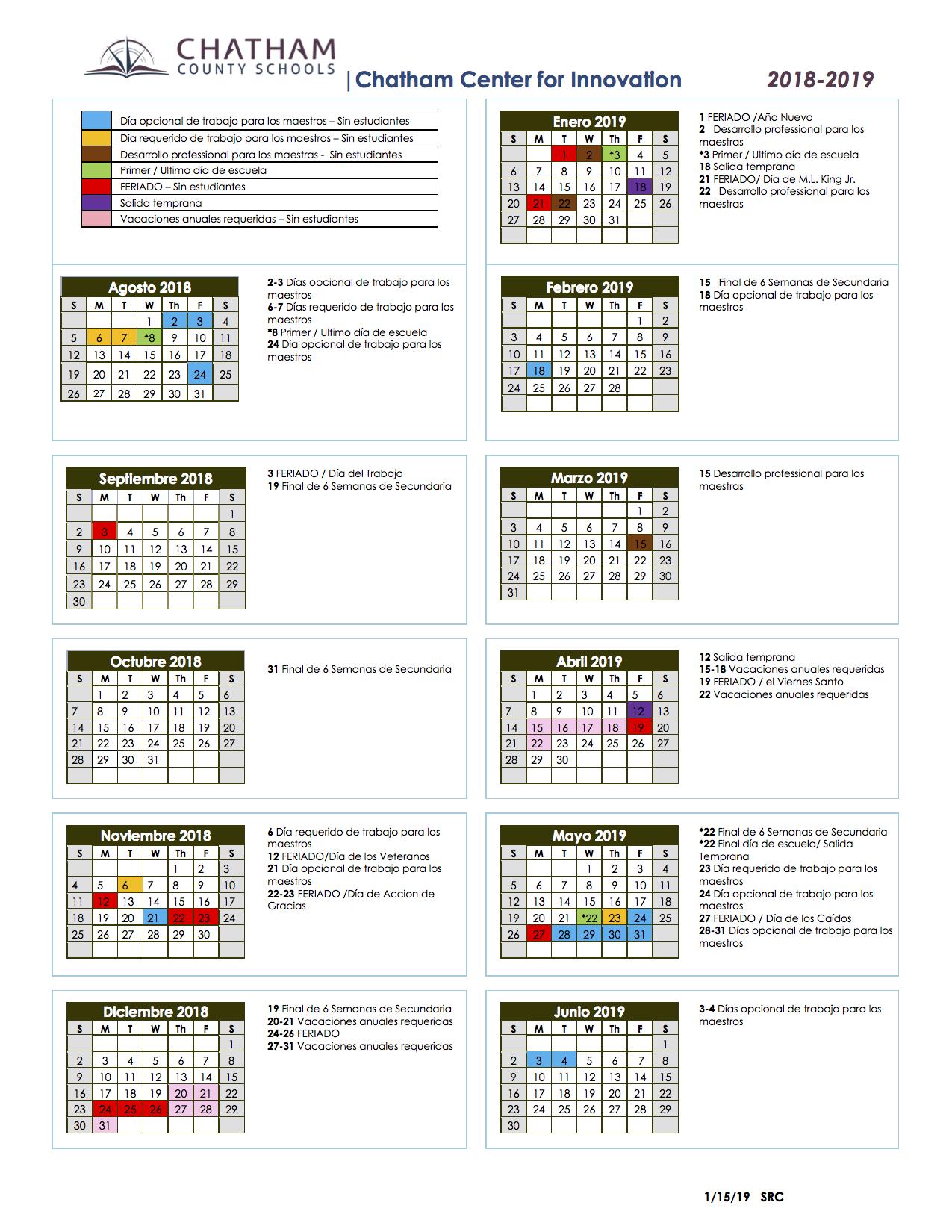 School Calendars / Sage Academy School Calendar Throughout Durham Co Schools Traditional Calendar