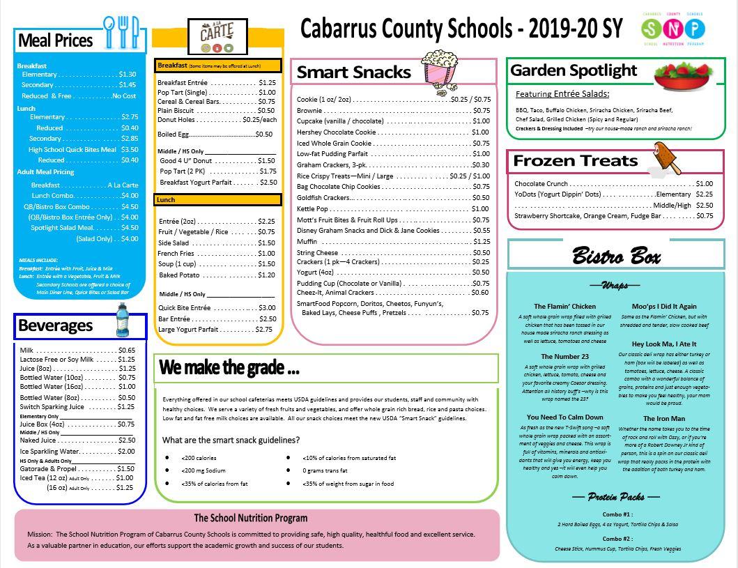 School Nutrition / Menus Pertaining To Moore County Nc Schools Calendar