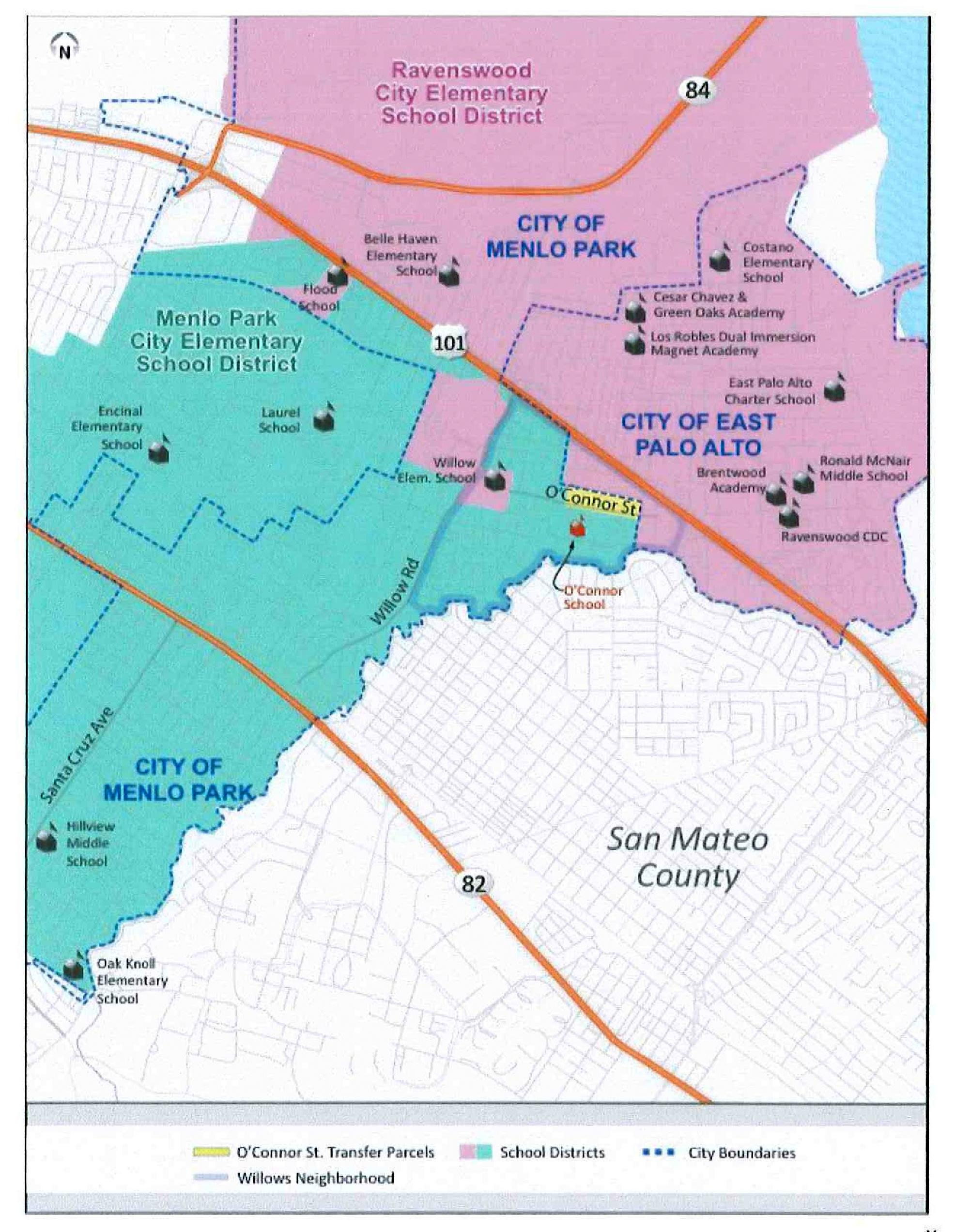 Schools: O'connor Street Transfer Request Deniedcounty With Schedule For Menlo Parkschool District