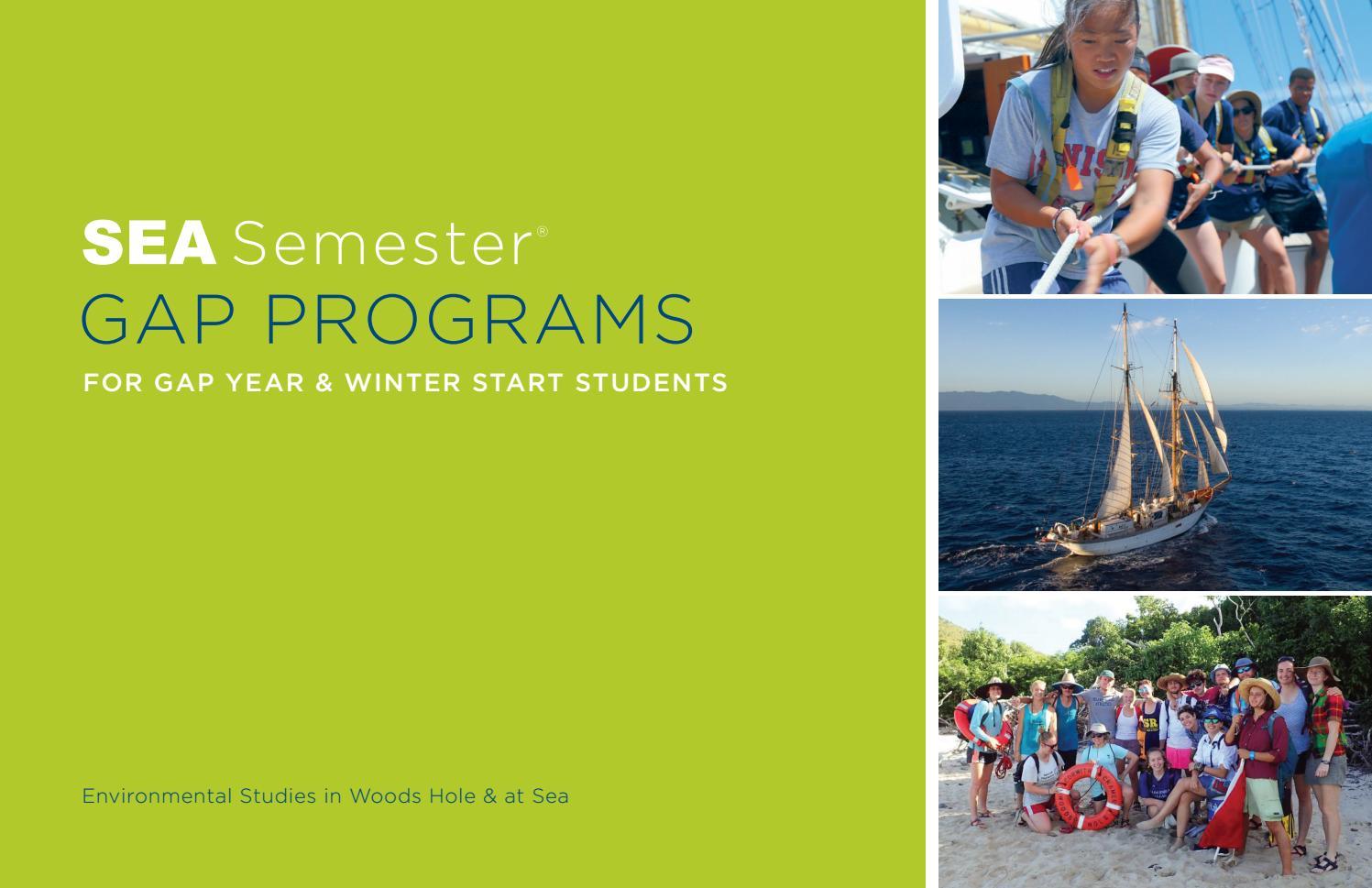 Sea Semester Gap Programssea Semester – Issuu Intended For Is Full Sail Quarter Or Semester