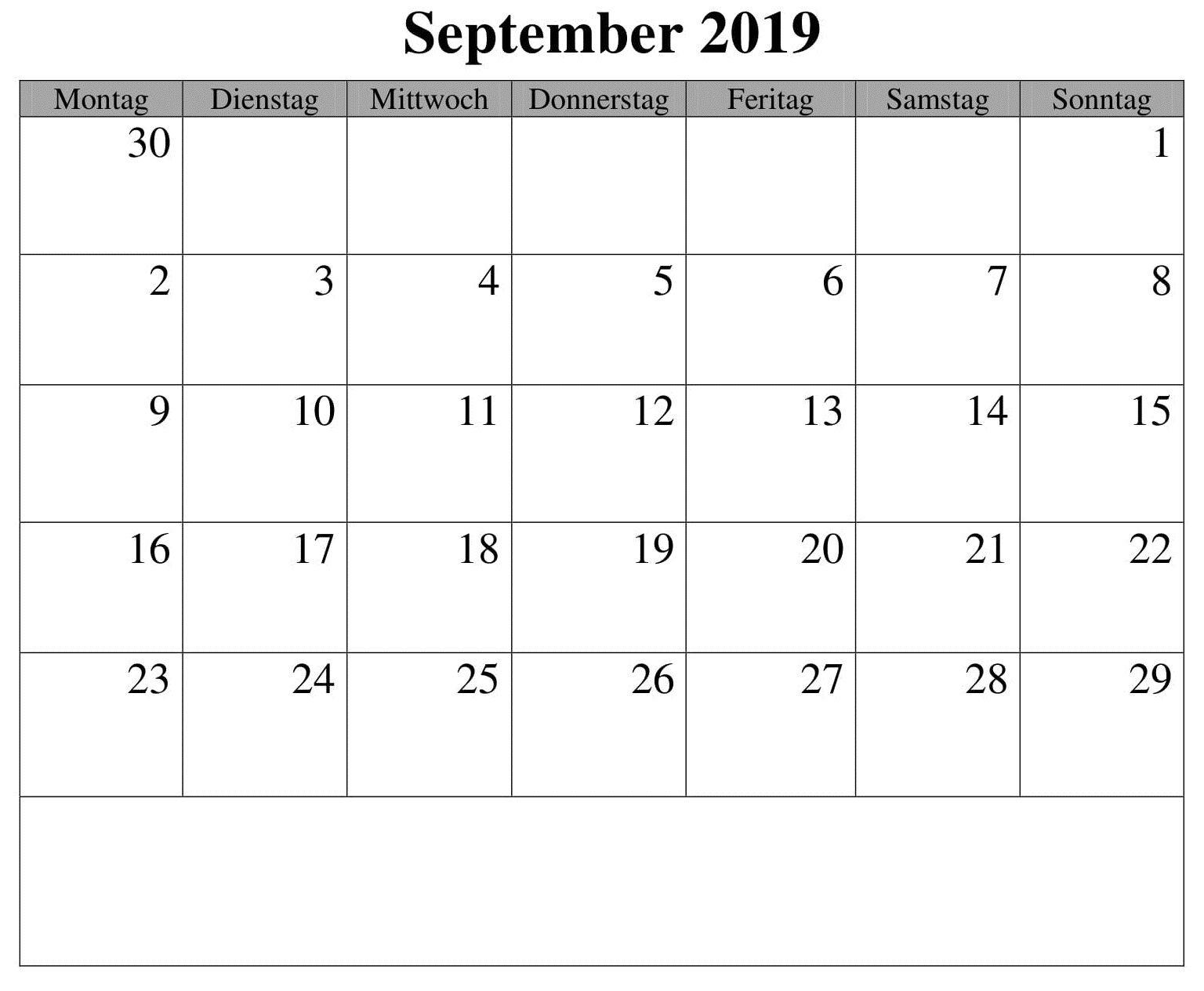 September Kalender Drucken 2019 Zum Ausdrucken (With Images In Printable 30 Day Squat Challenge January 2021