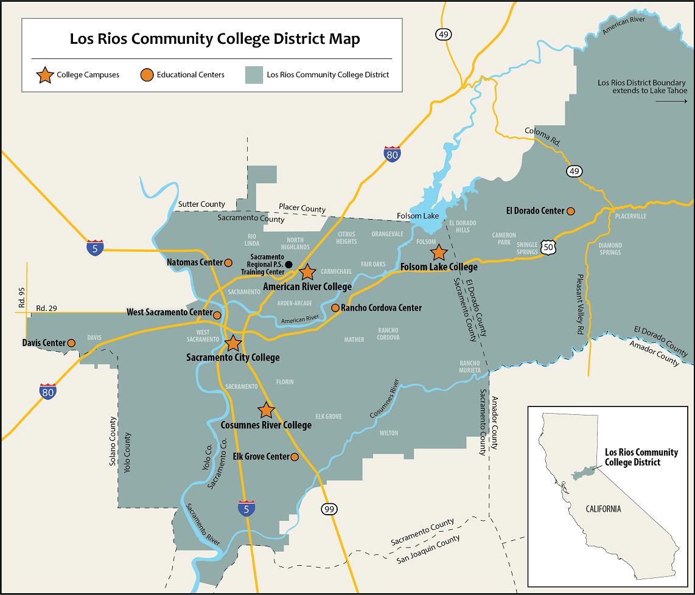 Service Area Maps   Los Rios Community College District With Regard To Calendar Of American River College 2020