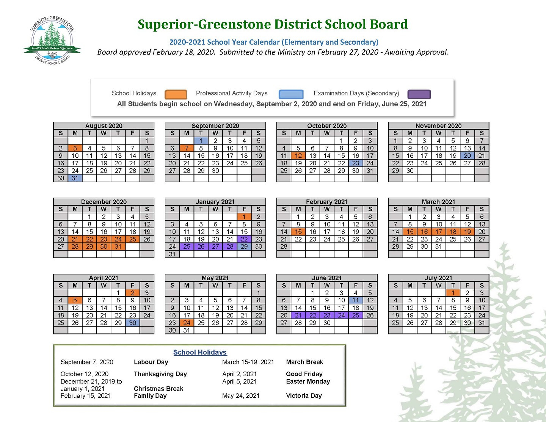 Sgdsb – School Year Calendar Intended For East Orange H S Calendar
