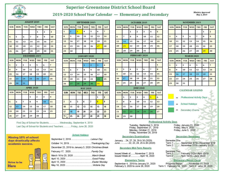 Sgdsb – School Year Calendar Regarding Green Bay School District Calendar