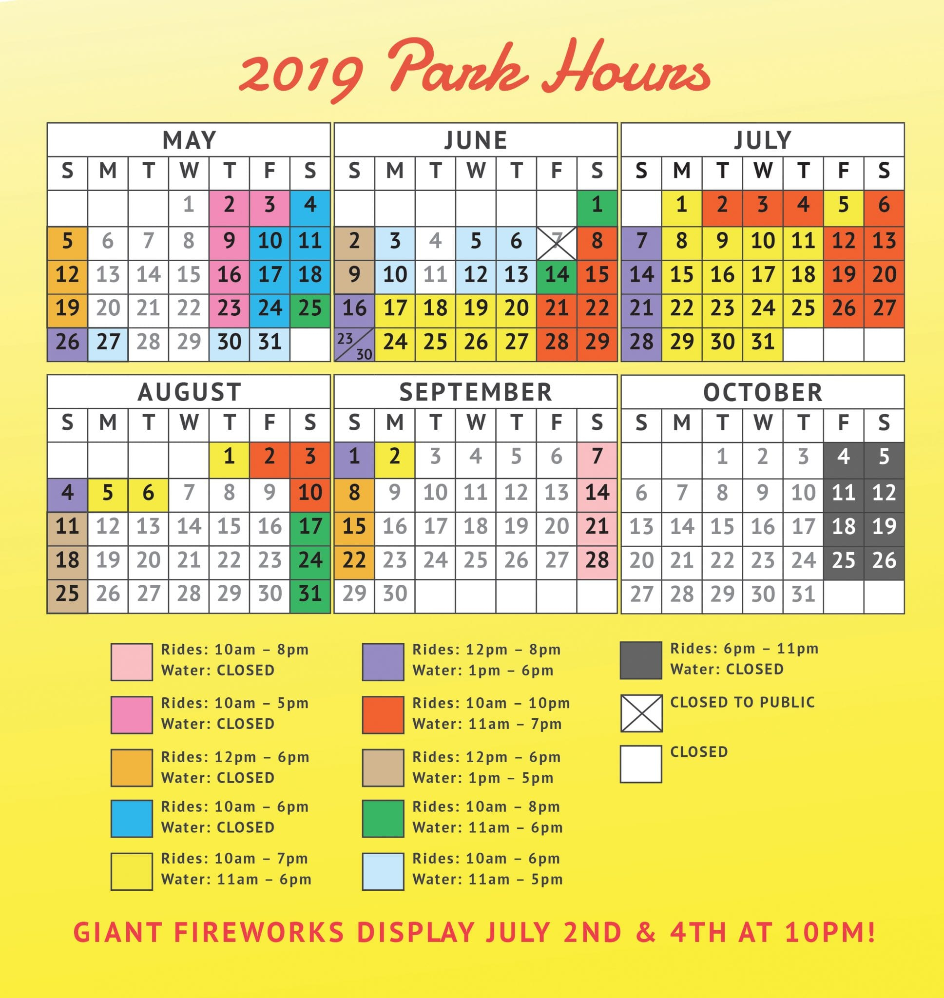 Six Flags Calendar 2019 Bring A Friend - About Flag Collections with regard to Six Flags Over Georgia Calendar