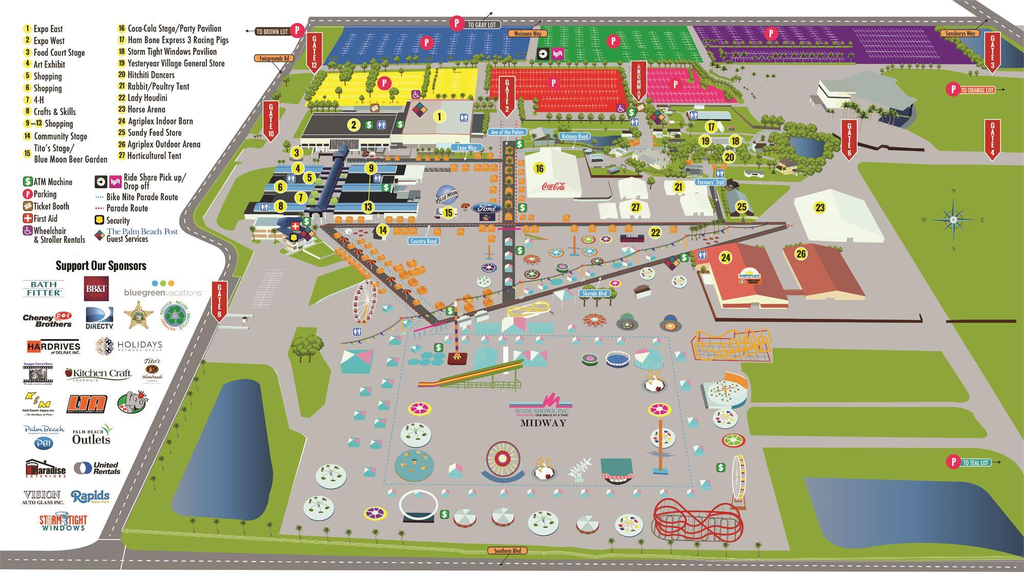 South Florida Fairgrounds Map | Florida Map 2018 With Regard To South Florida Fairgrounds Event Schedule