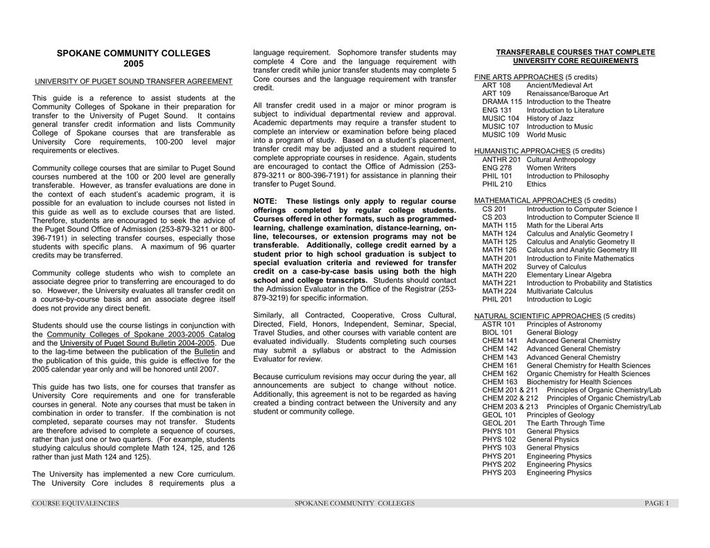 Spokane And Spokane Falls Community College   Manualzz With Regard To Spokane Community Colleges Academic Calendar