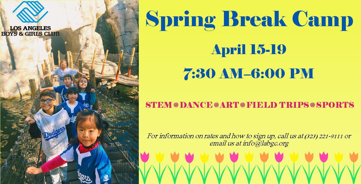 Spring Break Camp – Los Angeles Boys & Girls Club With Boys And Girls Club Spring Break