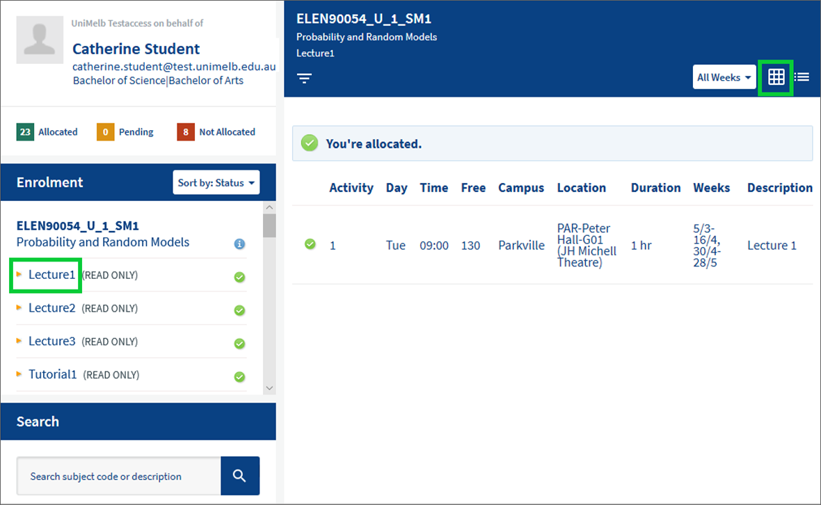 Step 3: Review/adjust Your Allocated Timetable Intended For Unimelb Academic Calendar