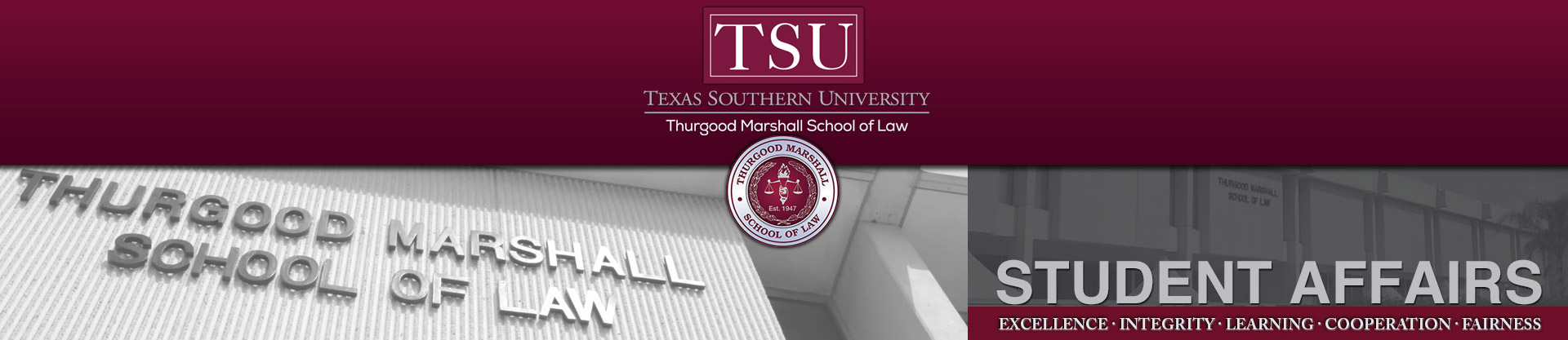 Student Affairs At Thurgood Marshall School Of Law In Within Texas Southern Academic Schedule